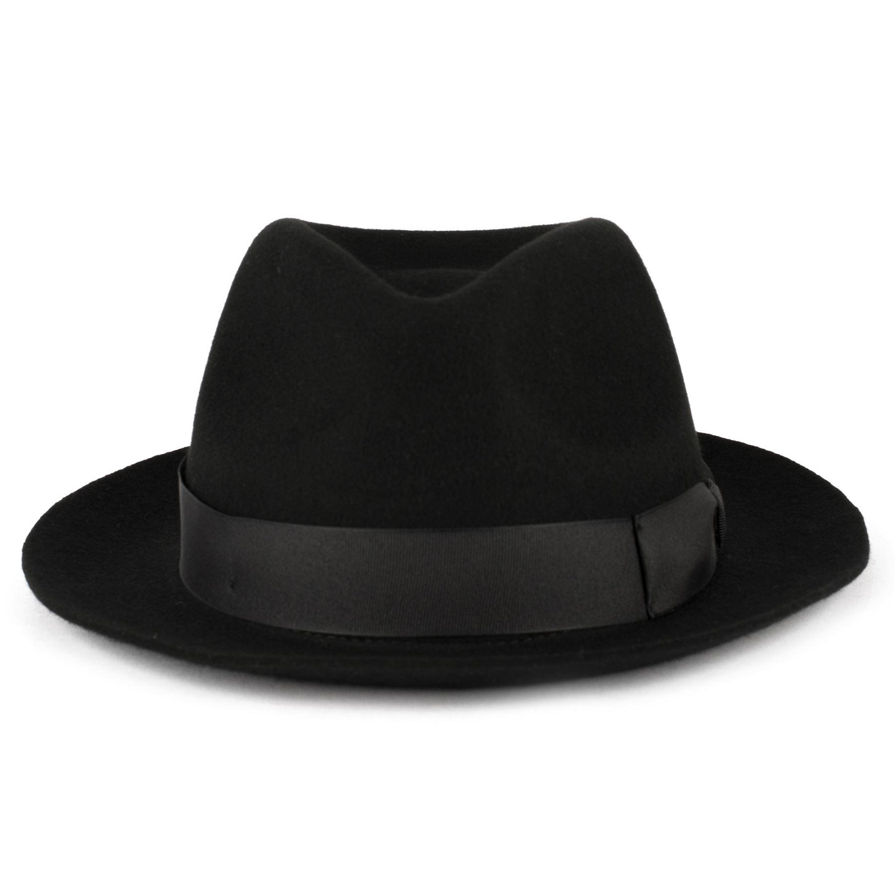 77190b3218a2c ZAKIRA Medium Brim Fedora Hat in Finest Crushable Wool Felt ...