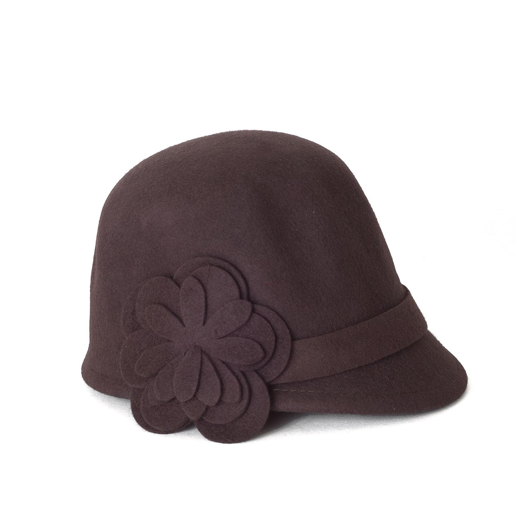 casquette en feutre de laine style questre avec fleurs ebay. Black Bedroom Furniture Sets. Home Design Ideas
