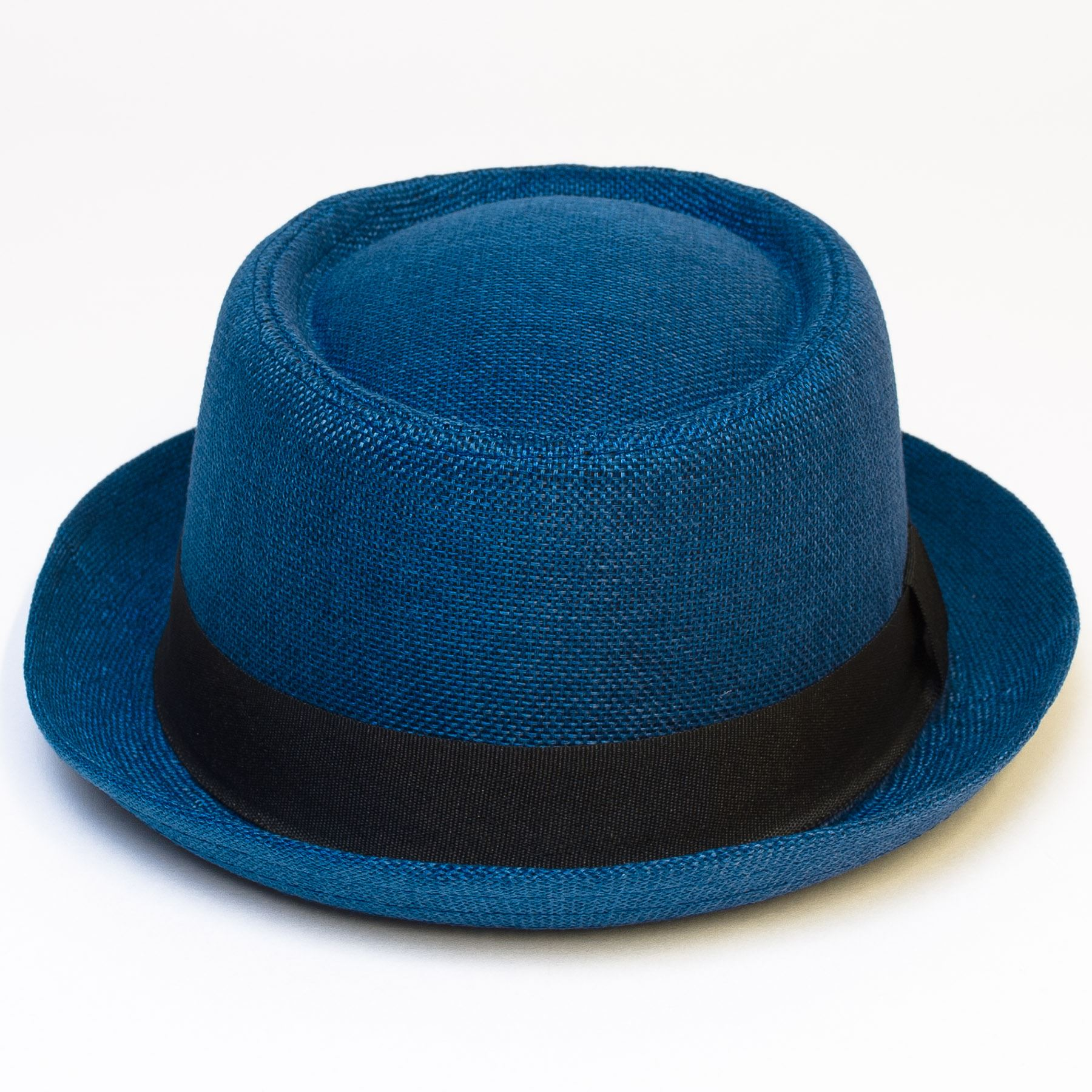 Pork-Pie-Hat-with-Black-Grosgrain-Band thumbnail 12