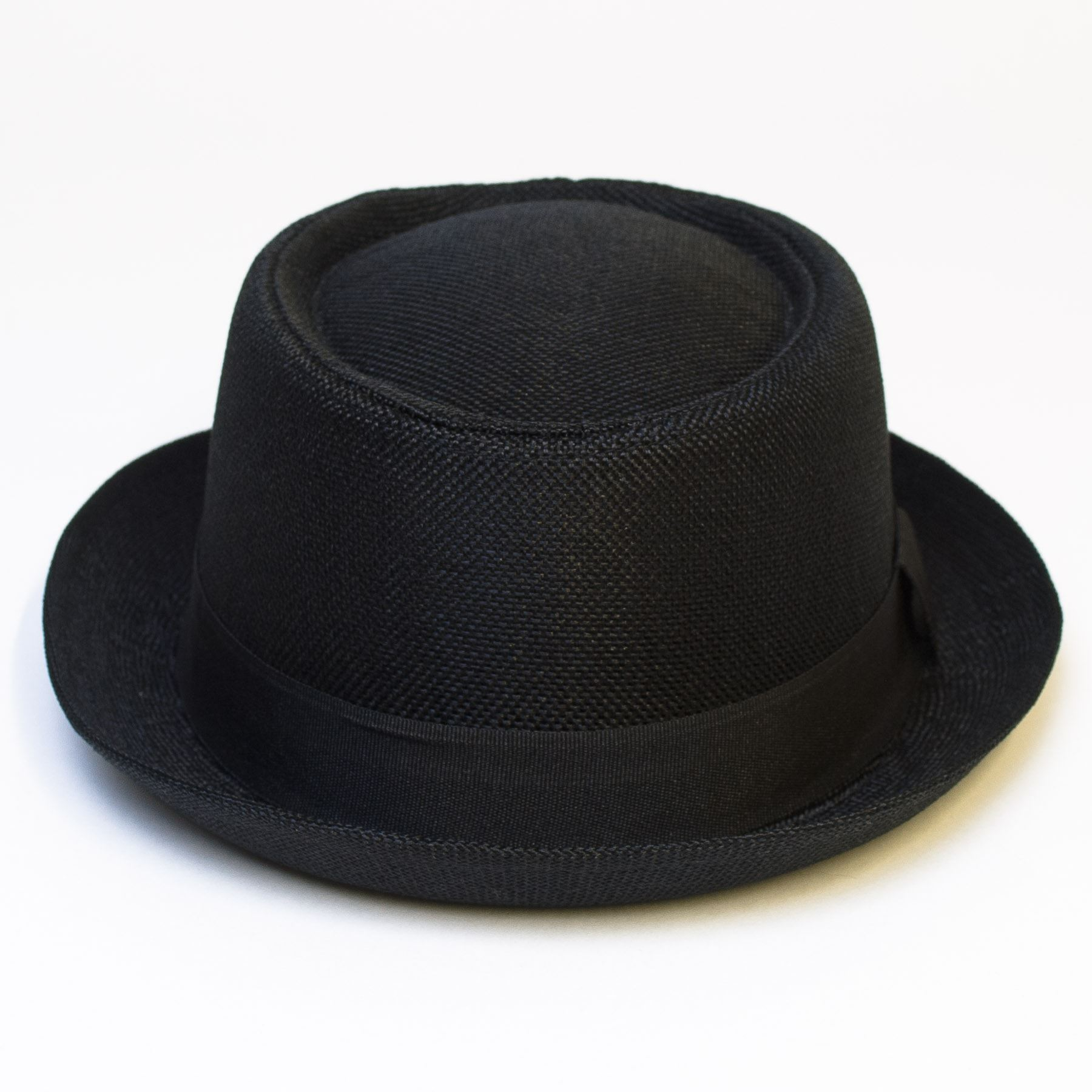 Pork-Pie-Hat-with-Black-Grosgrain-Band thumbnail 8