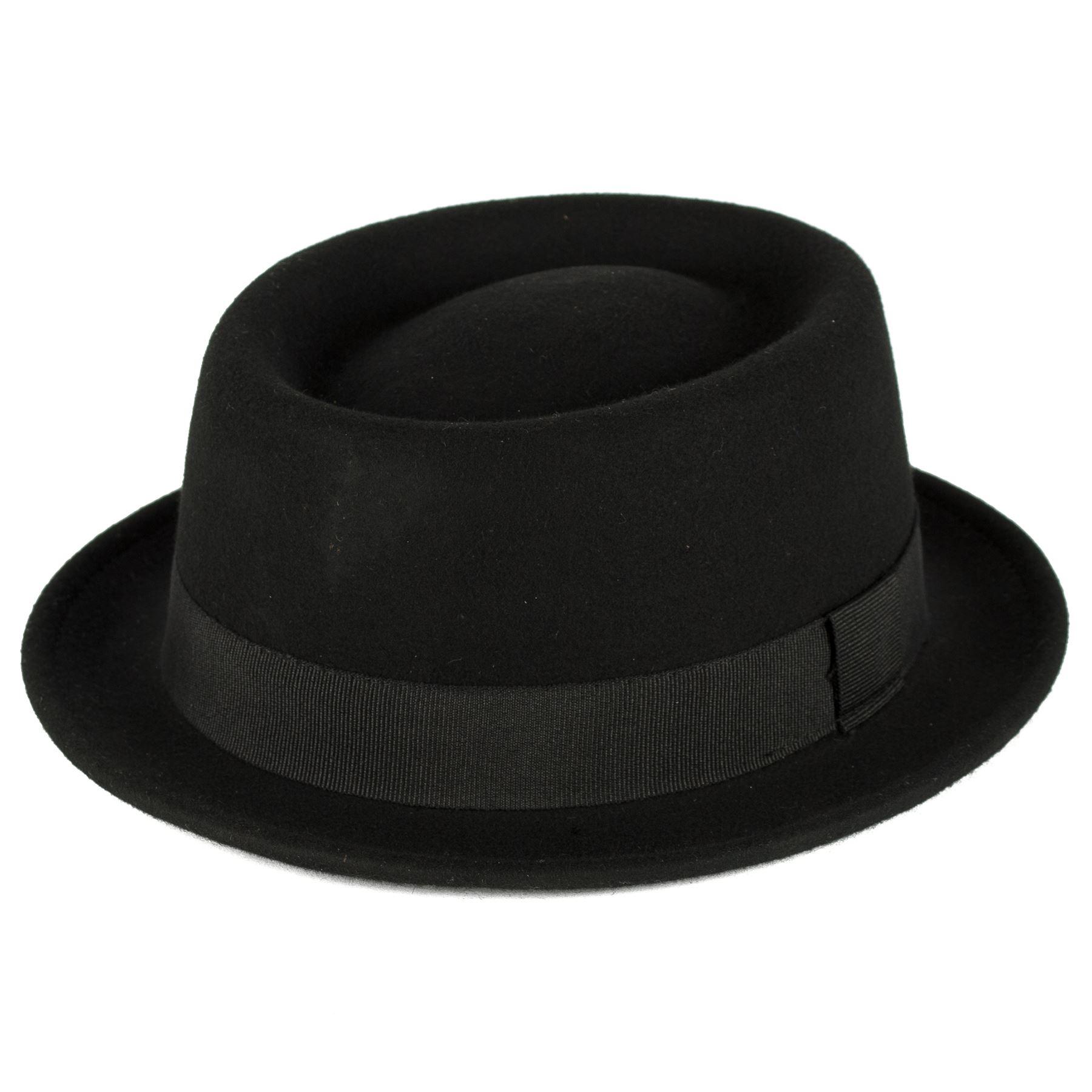 276f675197f Stylish Wool Pork Pie Hat Waterproof    Crushable