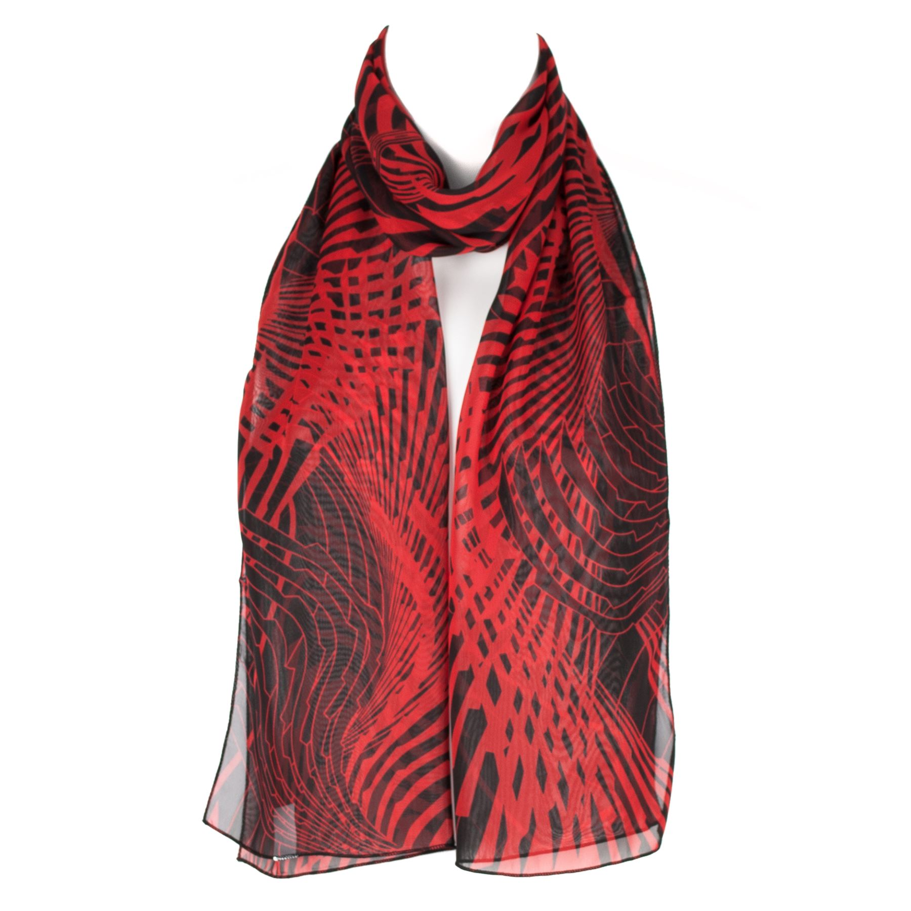 chiffon womens geometric design scarf shawl wrap ebay