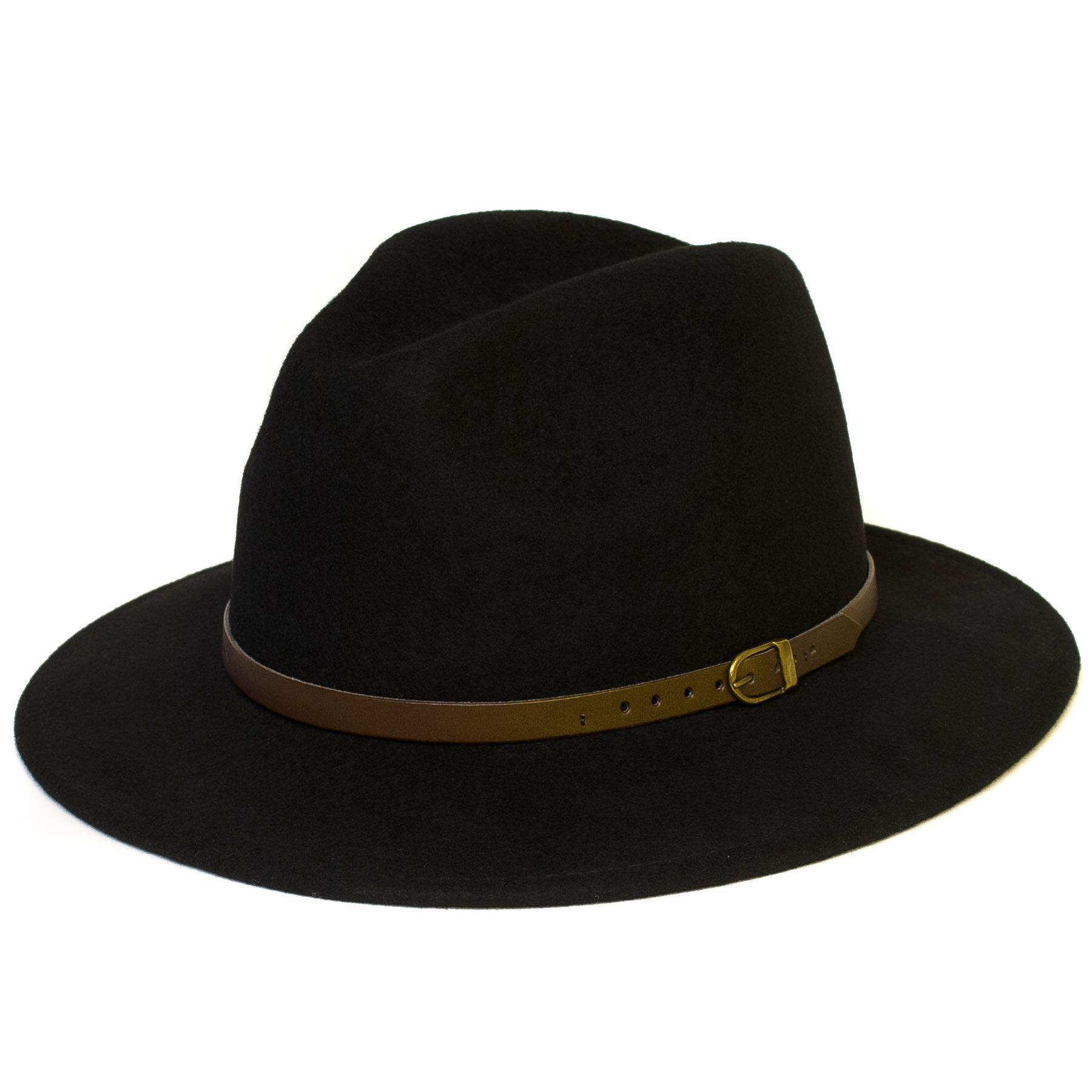 Sombrero-Trilby-Fedora-De-Fieltro-De-Lana