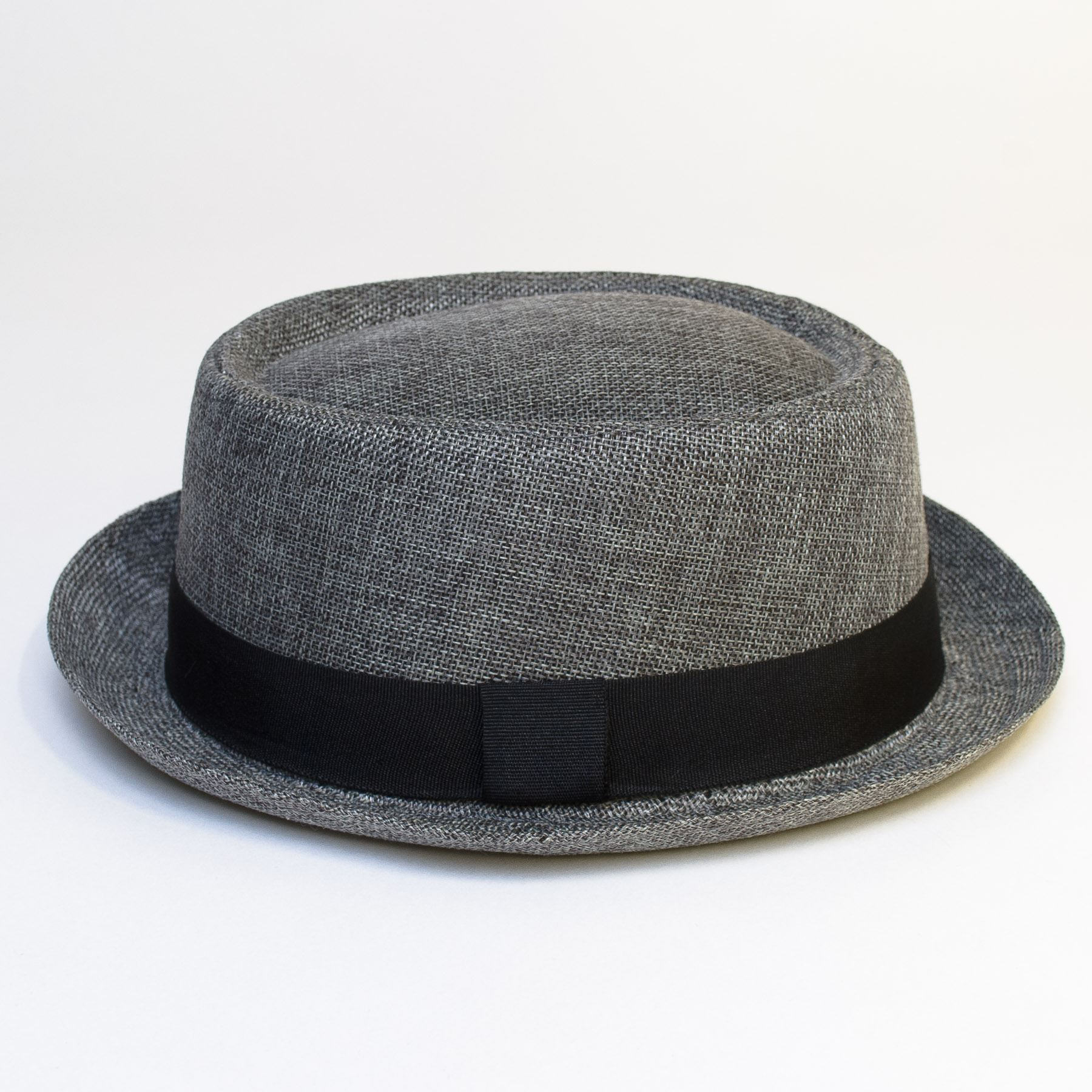 Pork-Pie-Hat-with-Black-Grosgrain-Band thumbnail 19