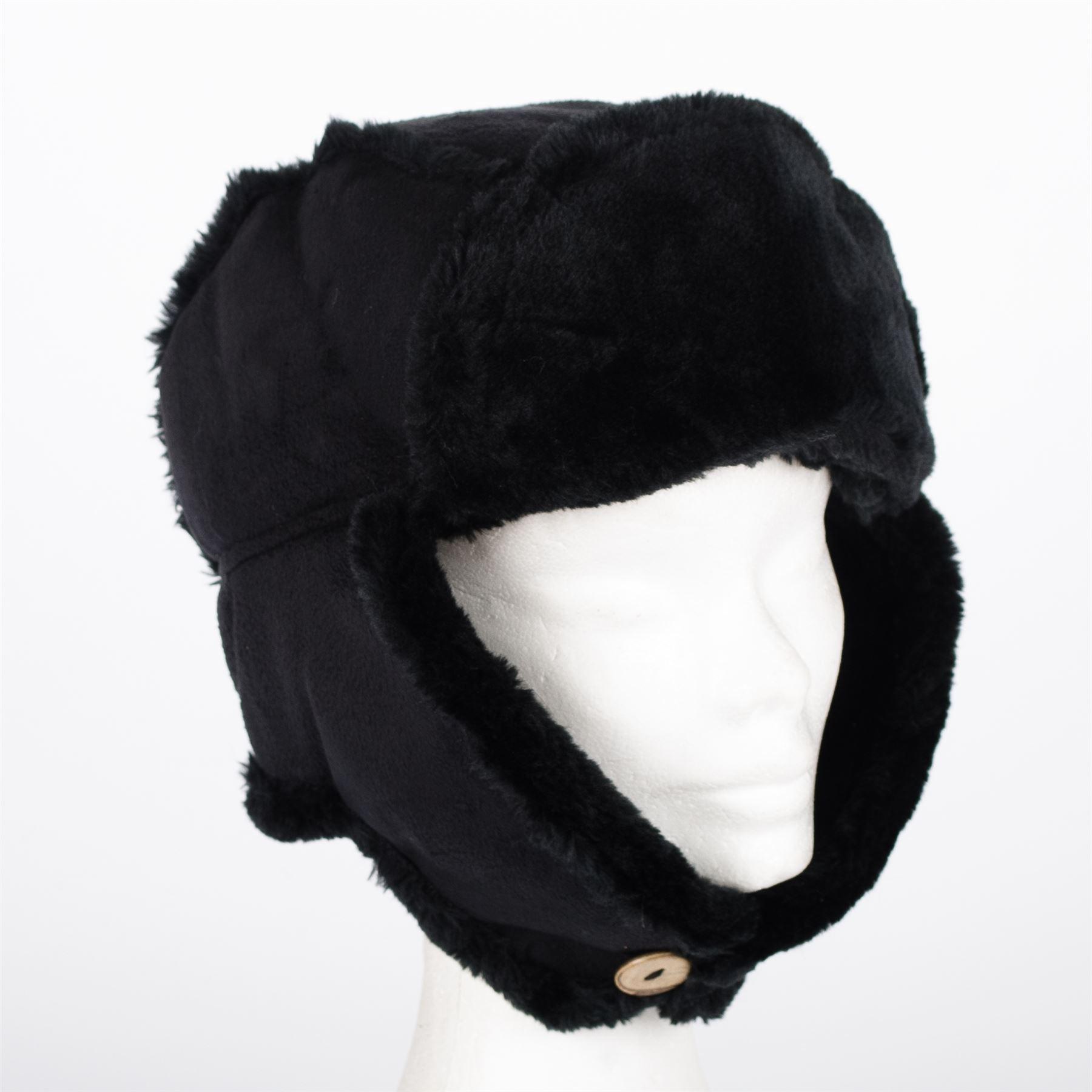 femmes chapeau russe trappeur aviateur en fourrure fausse peau de mouton daim ebay. Black Bedroom Furniture Sets. Home Design Ideas