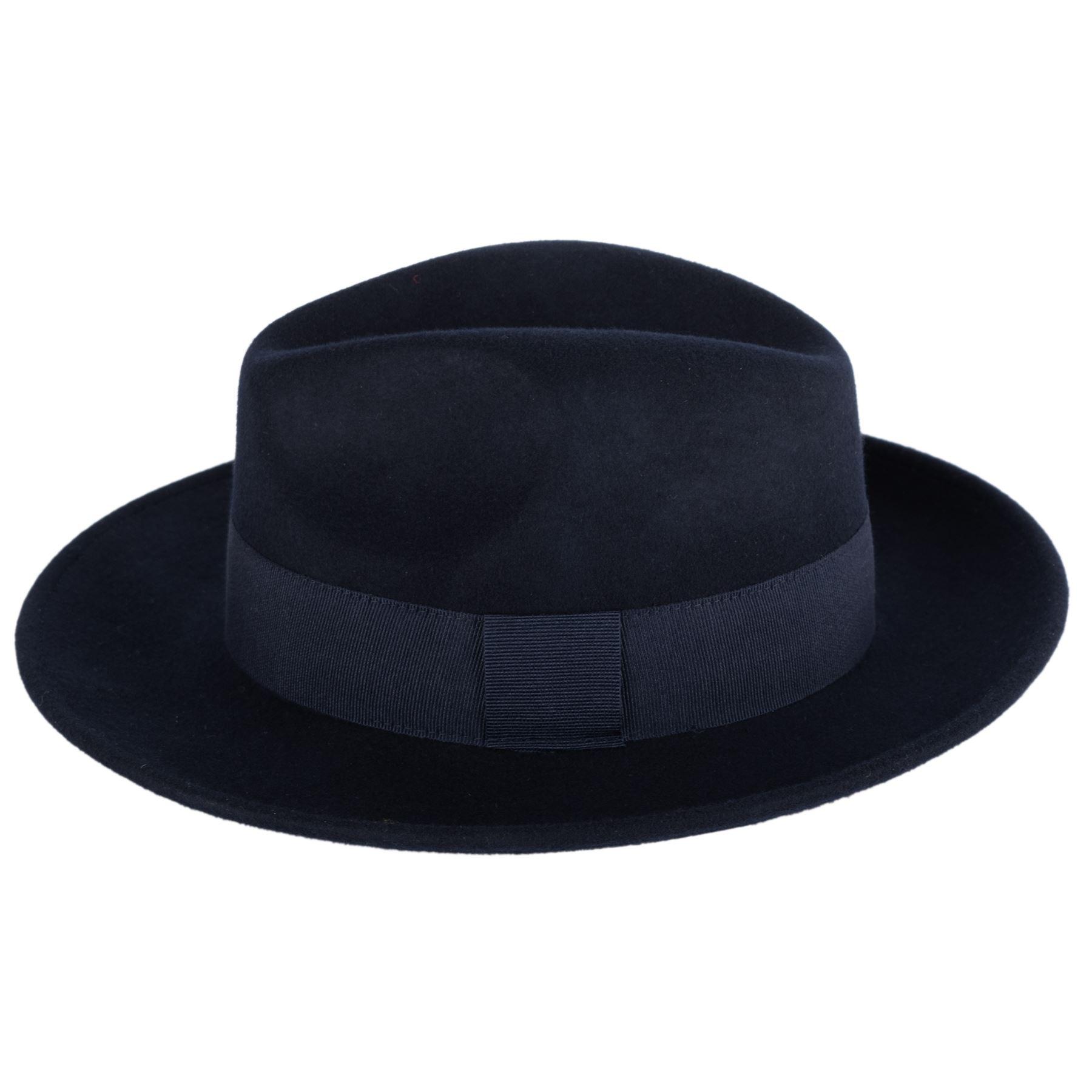 6dee053fe Elegant 100% Wool Fedora Hat Waterproof & Crushable Handmade in Italy