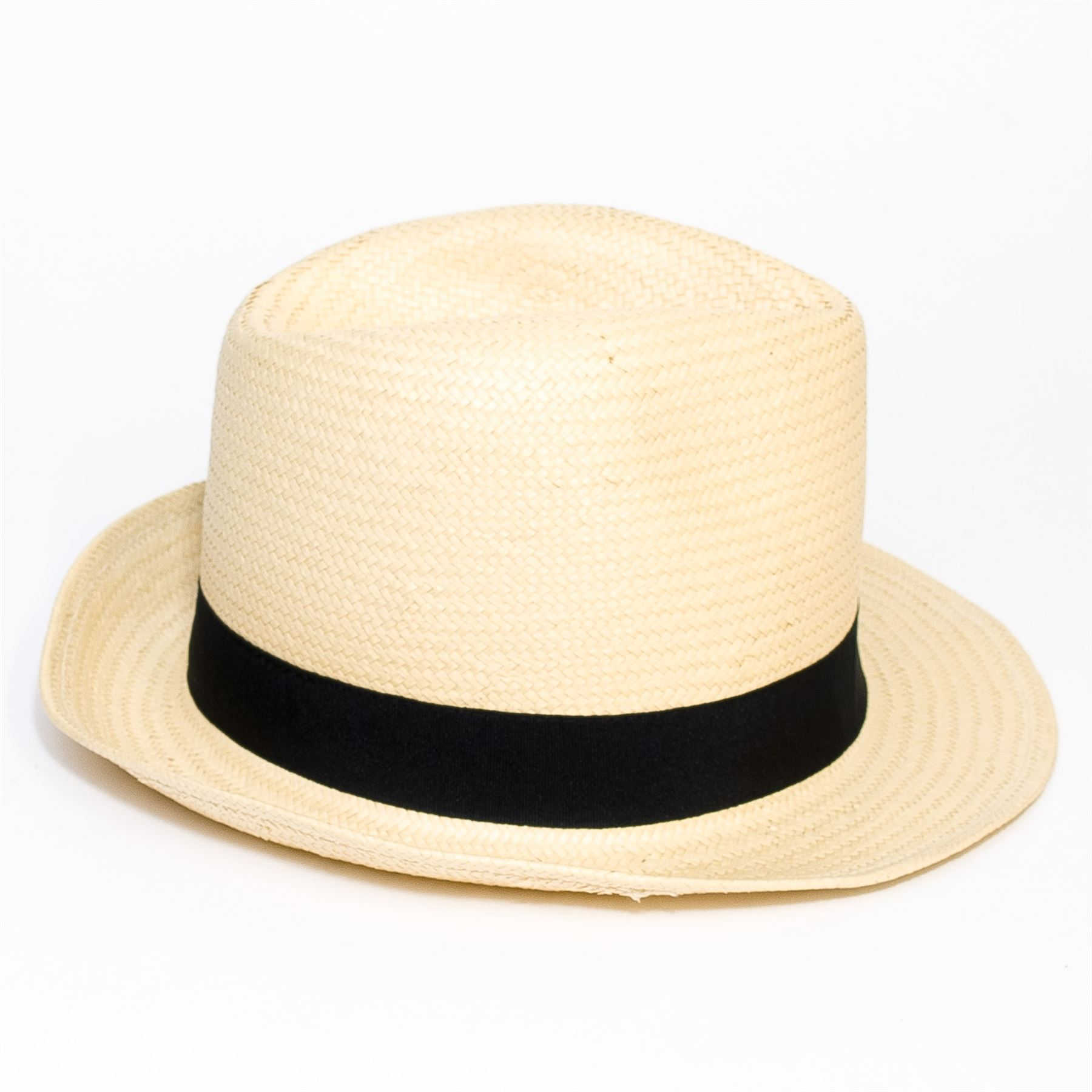 Woven-Straw-Style-Beige-Trilby-Hat thumbnail 7