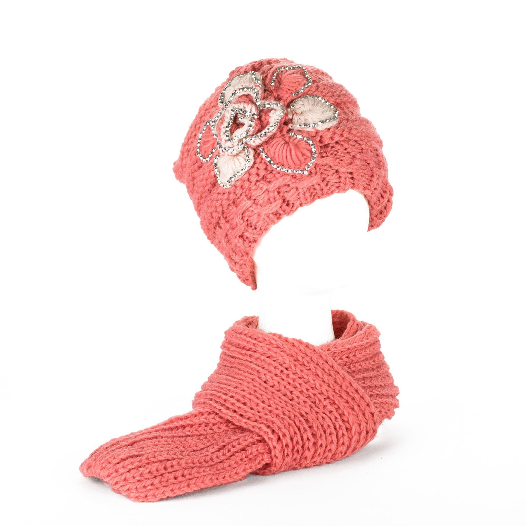 Ladies Winter Chunky Rib Knitted Beanie Hat with Fleece Lining ...