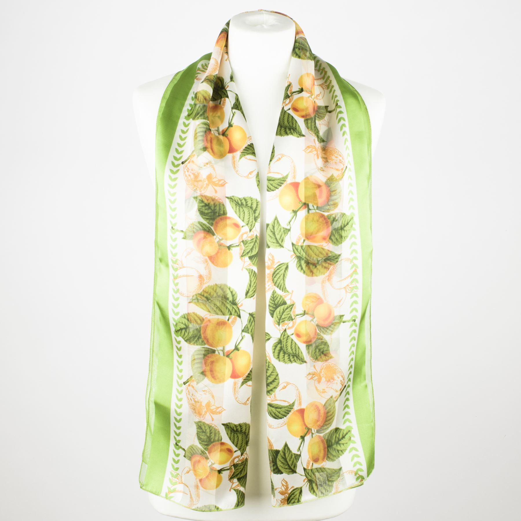 Ladies-Satin-Chiffon-Neck-Scarf-with-Fruit-Print thumbnail 5