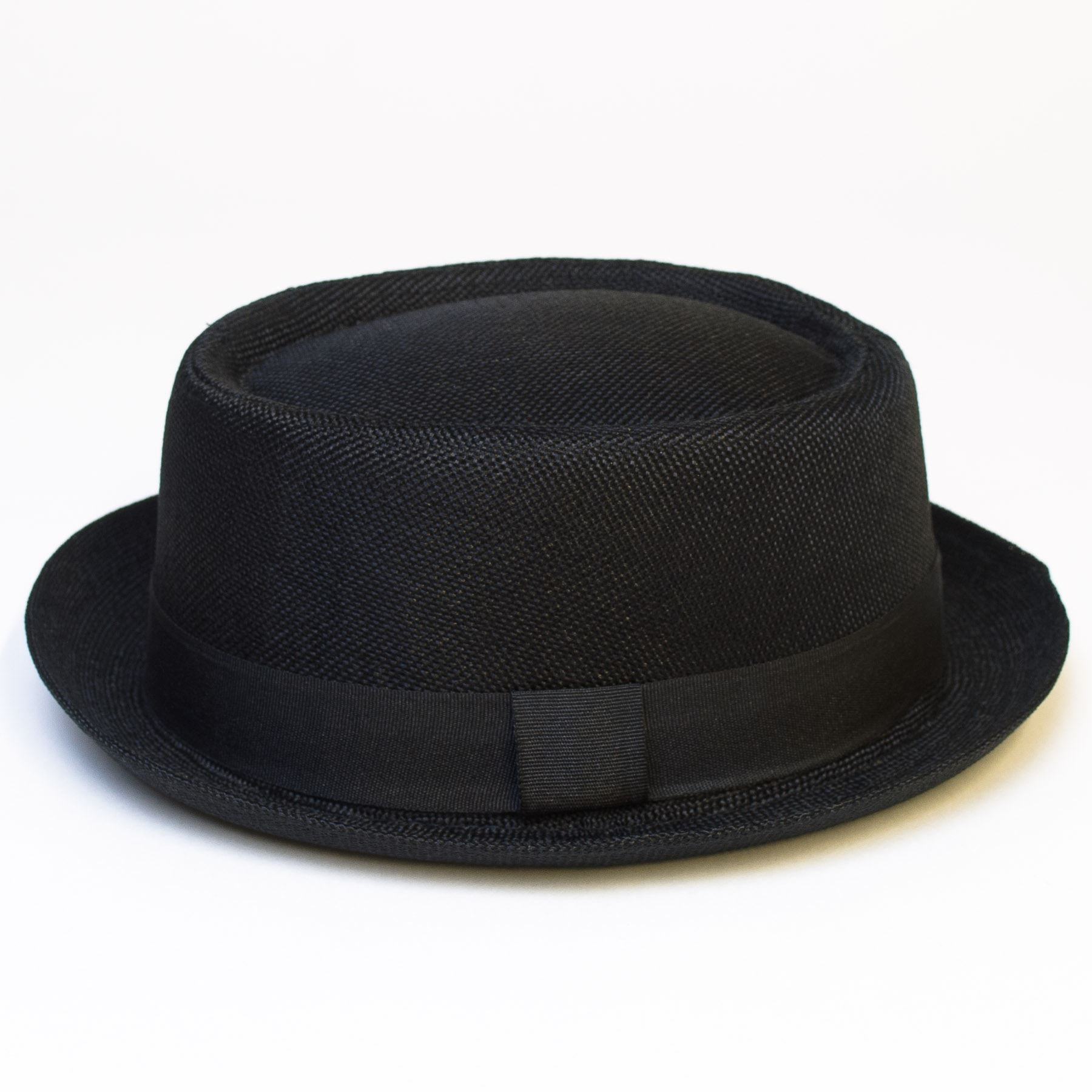 Pork-Pie-Hat-with-Black-Grosgrain-Band thumbnail 7