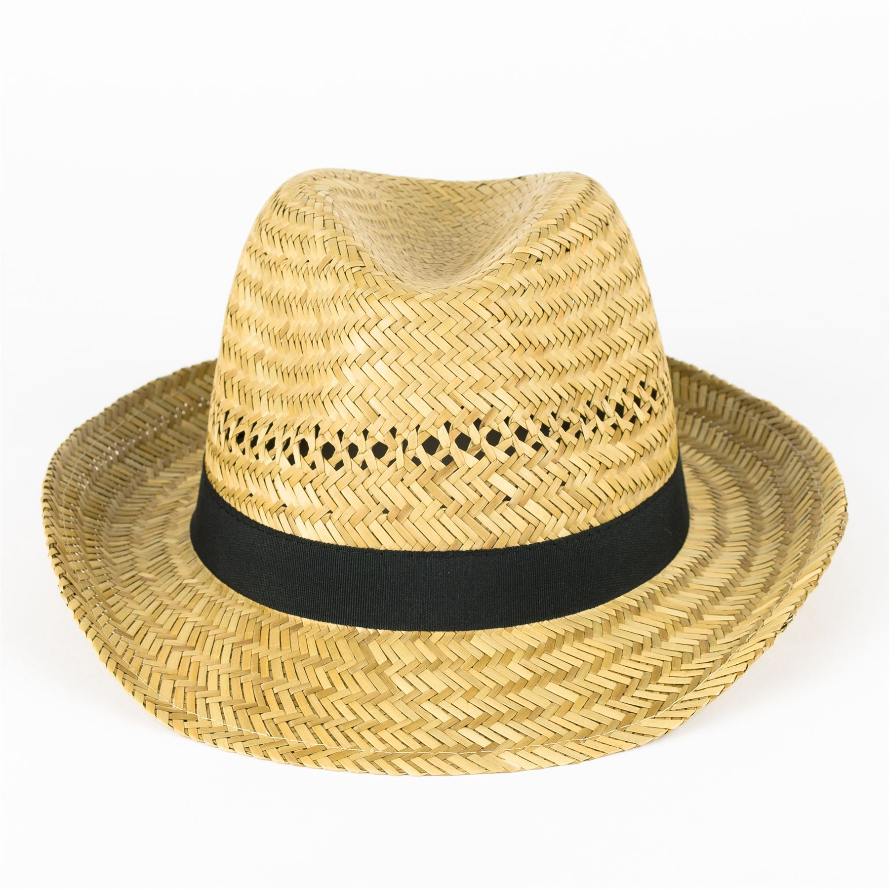 4dbd6532cd69c Straw-Fedora-Hat-with-Black-Grosgrain-Band thumbnail 4