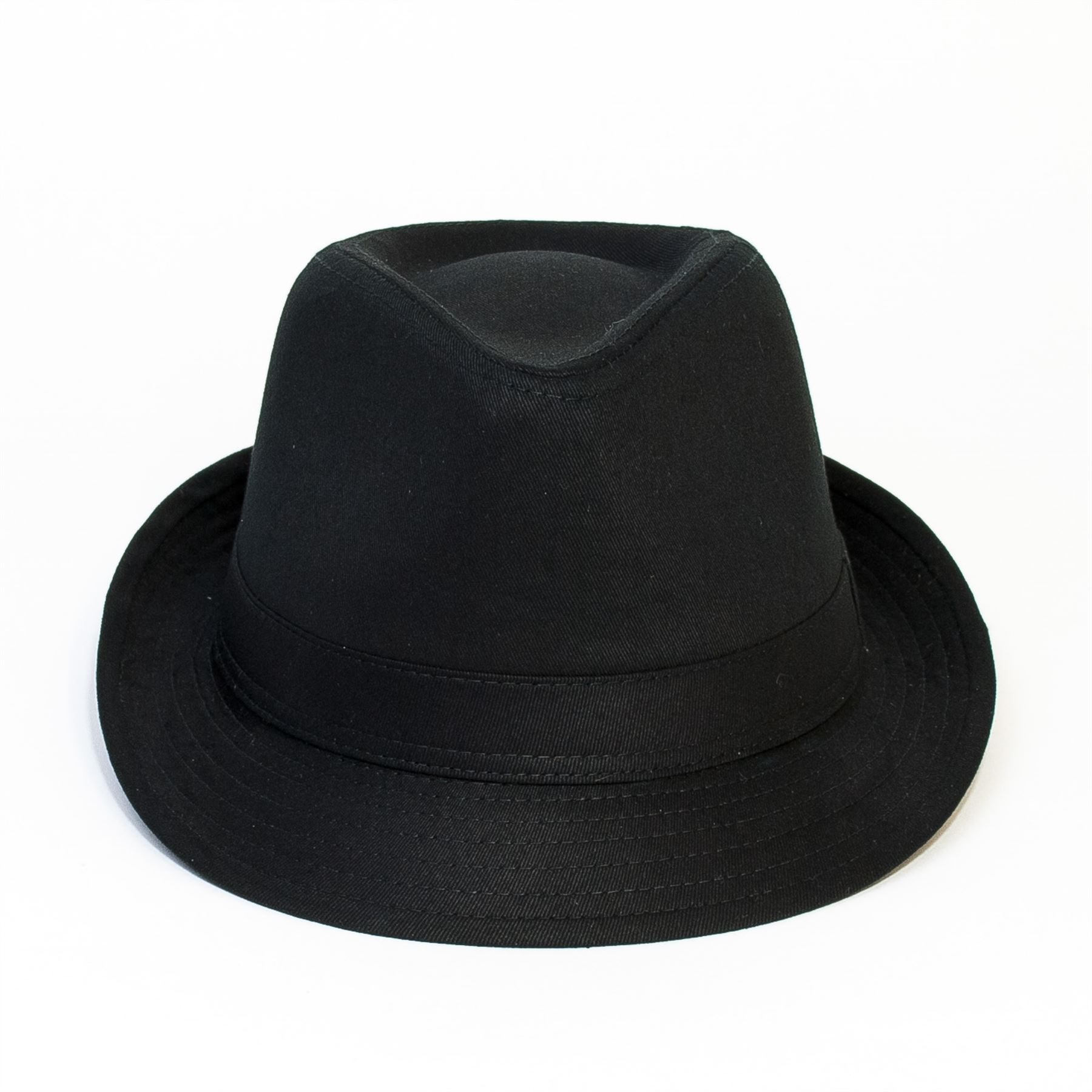 Cotton Black Trilby Hat  162f097117b