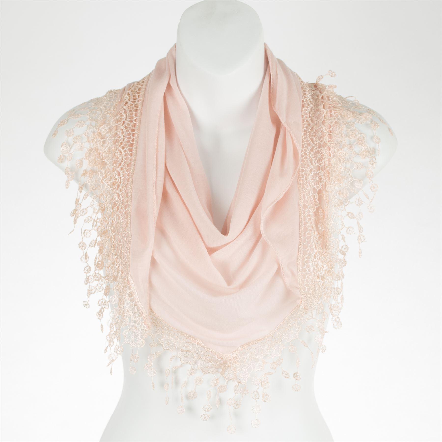 Stylish-Bobbin-Lace-Fringed-Ladies-Triangle-Scarf