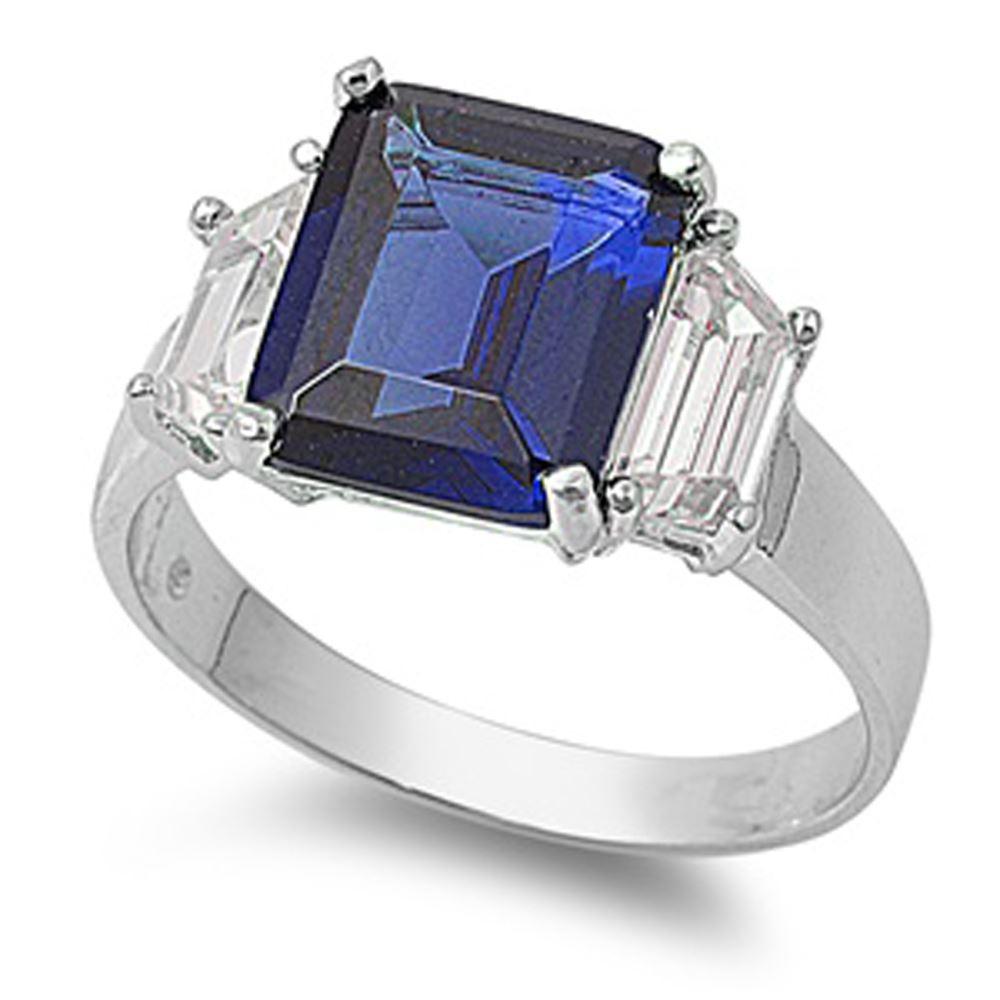 Anillo-De-Compromiso-De-Plata-Esterlina-Azul-Zafiro-corte-esmeralda-CZ-Anillo-de-piedra-3