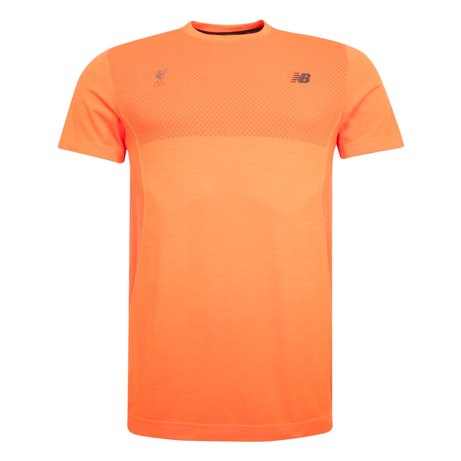 New Balance Mens Orange Seamless Short Sleeve T Shirt Liverpool FC ...