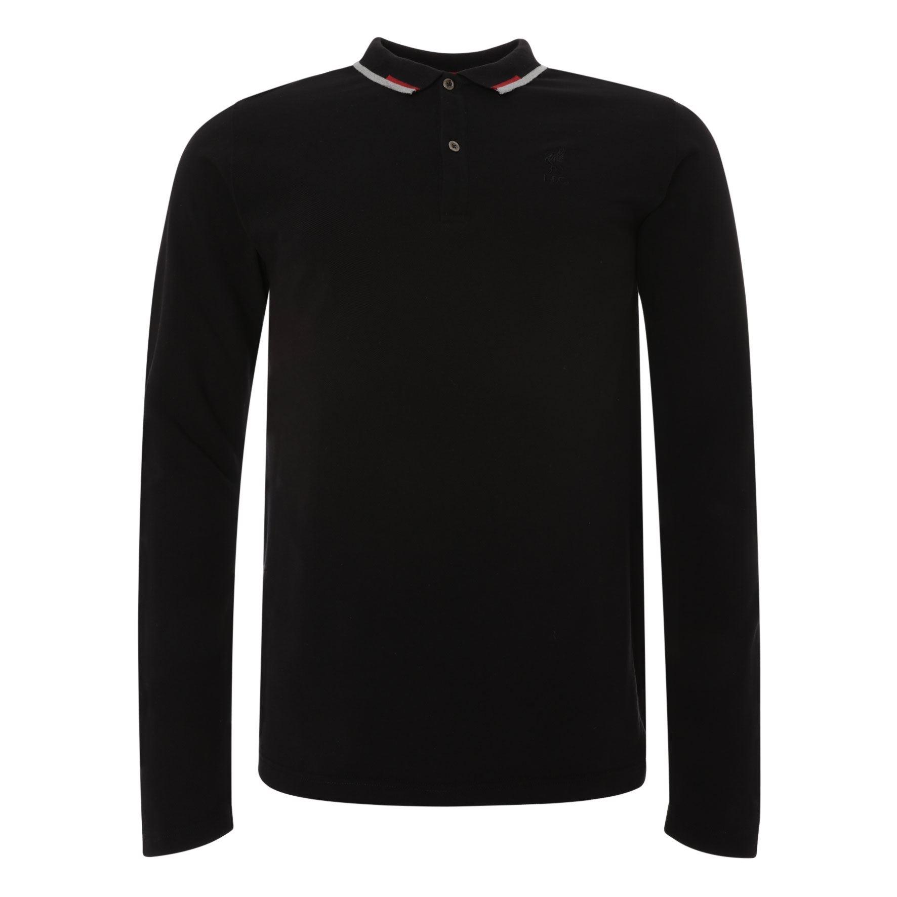 Black 1//4 Zip Long Sleeve Polo Liverpool