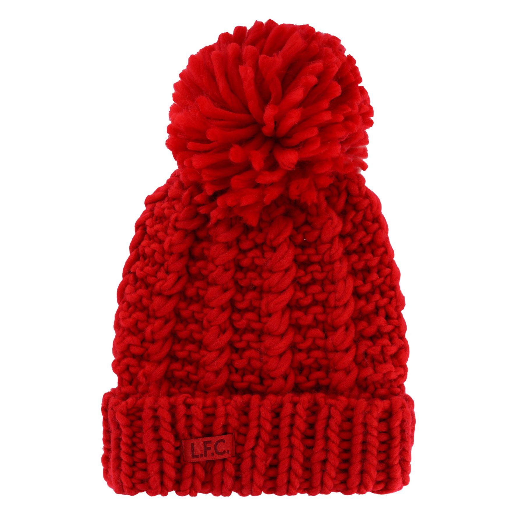 Liverpool FC Gorro LFC Mujer Rojo Patrón de Cable Oficial | eBay