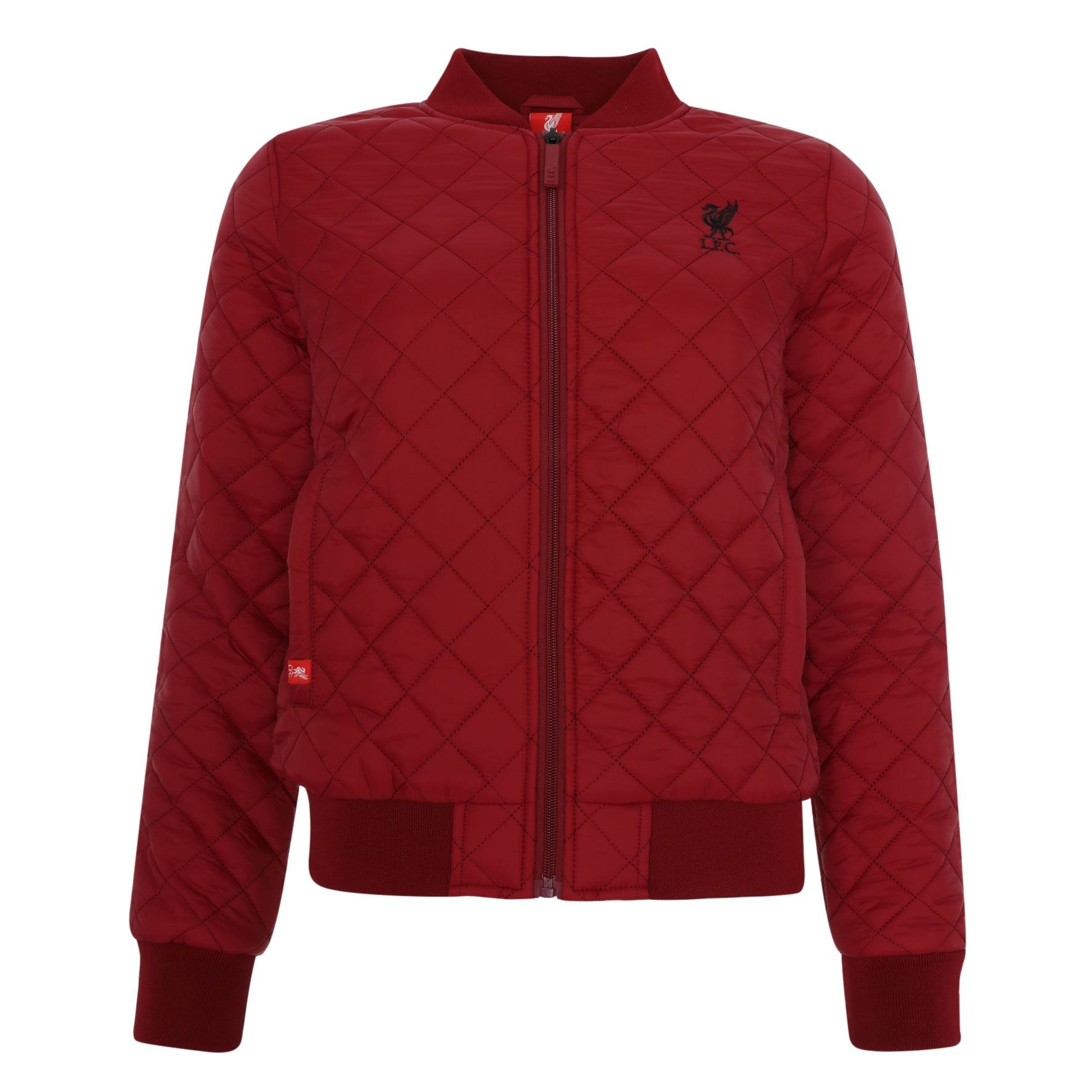 Details about Liverpool FC Red Womens Soccer Quilted Bomber Jacket AW 18 19 LFC  Official 7795862331