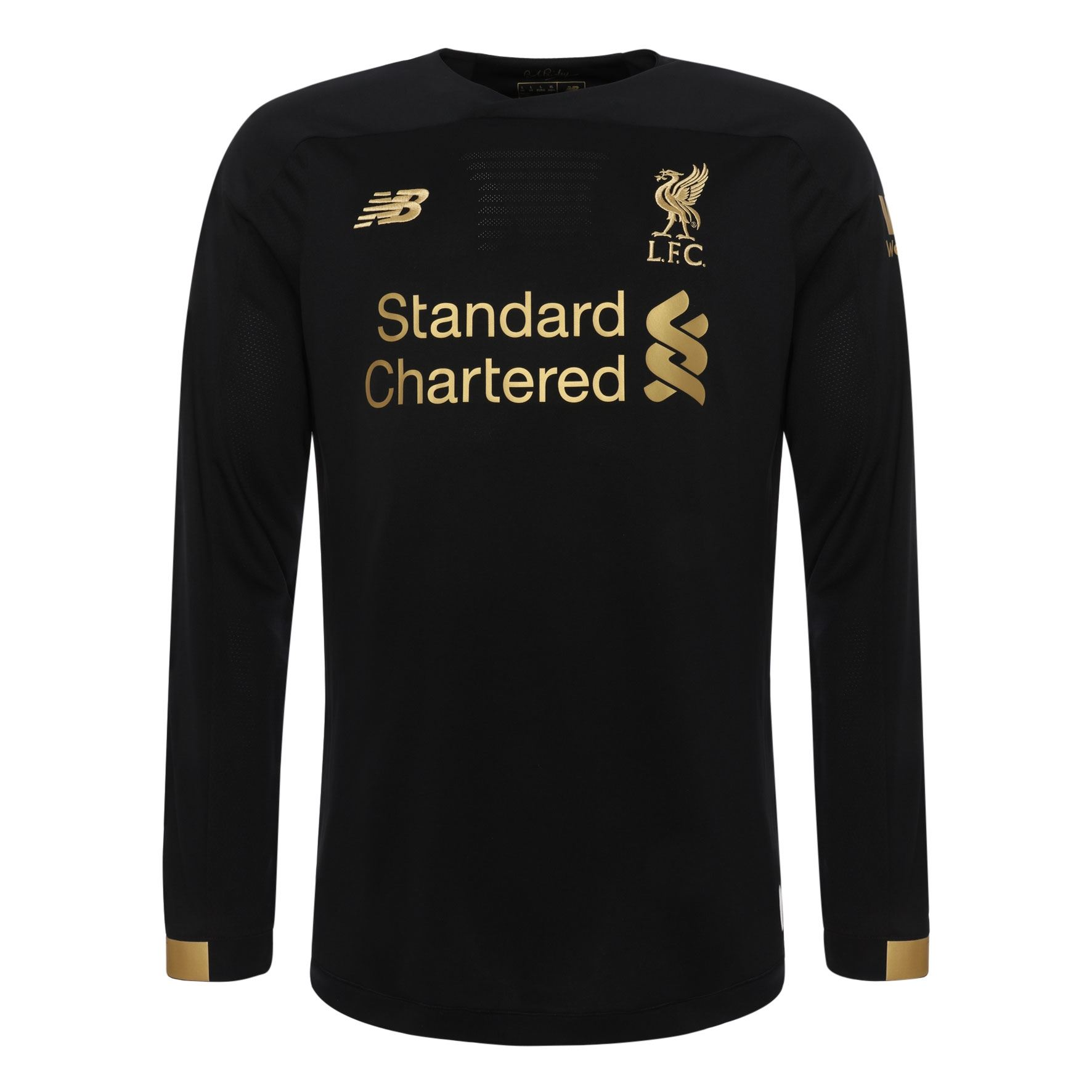 1c45c46f984 Details about Liverpool FC Home Kit Black Boys Soccer Goalkeeper Shirt  19 20 LFC Official