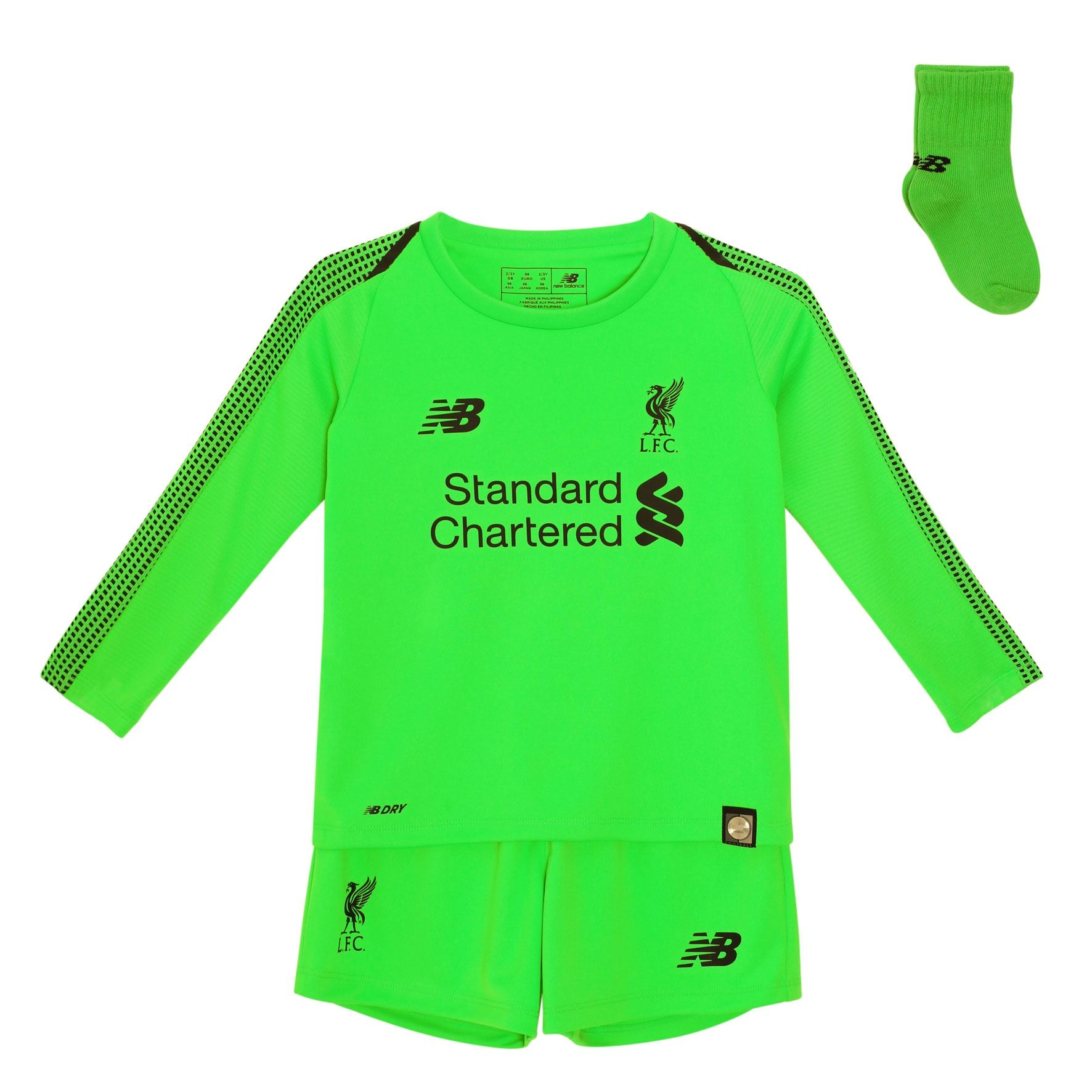 new product bb9f0 23a79 Details about Liverpool FC Baby Football Goalkeeper Away Kit 18/19 LFC  Official