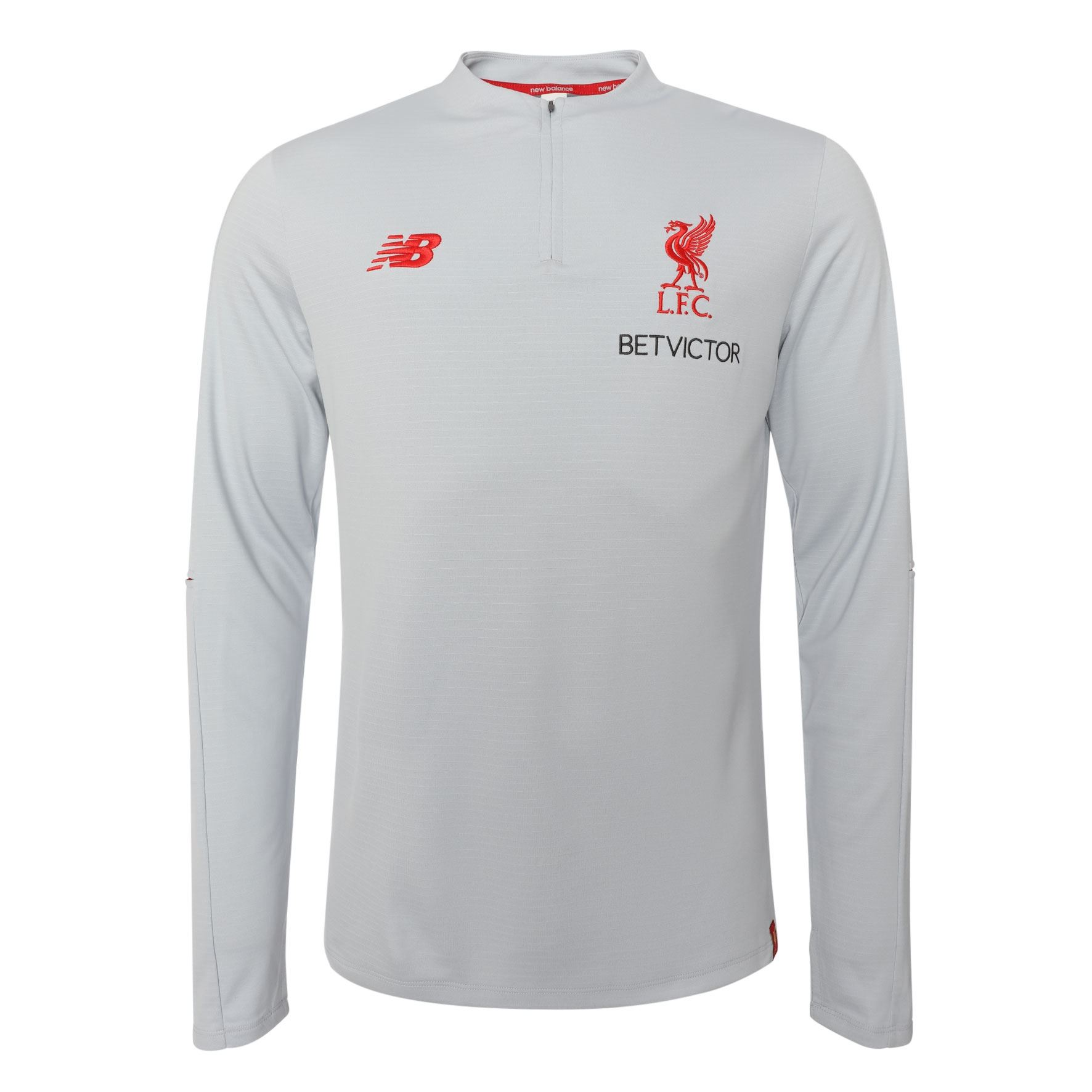 9afda4ff604 Details about Liverpool FC Grey Mens Soccer Elite Training Midlayer Jersey  18 19 LFC Official