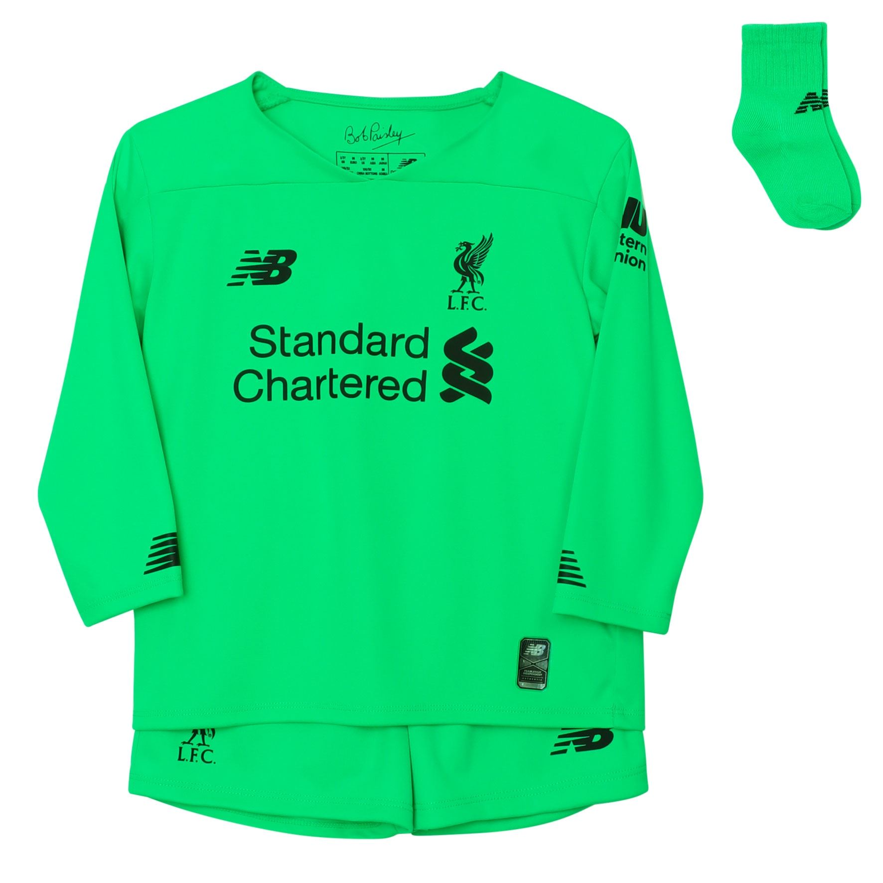 online retailer 0d08b ab4f2 Details about Liverpool FC Green Baby Boys Soccer Away Goalkeeper Kit 19/20  LFC Official