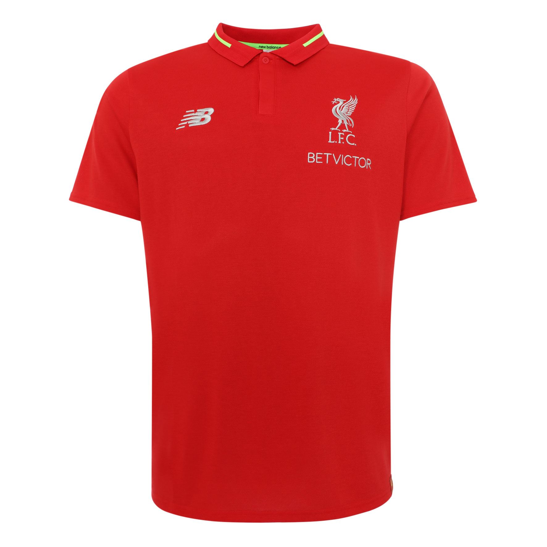 73e4079f4 Details about Liverpool FC Red Mens Soccer Polo Jersey Leisure Essential  18 19 LFC Official