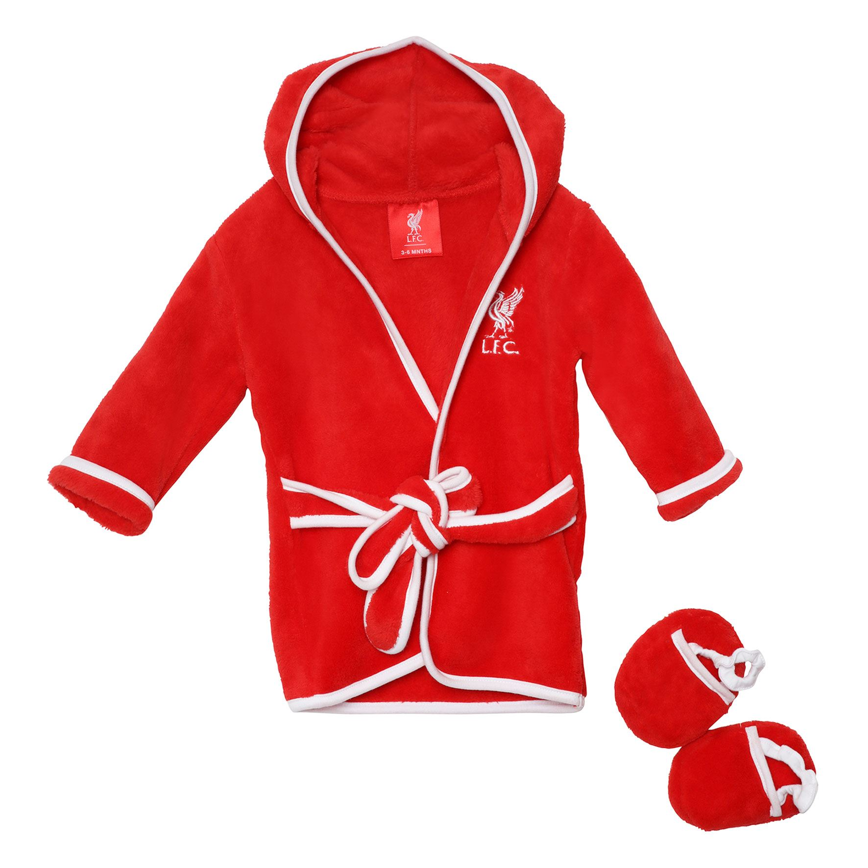 Liverpool FC LFC Baby Red Dressing Gown and SLIPPER Set Official 3-6 ...
