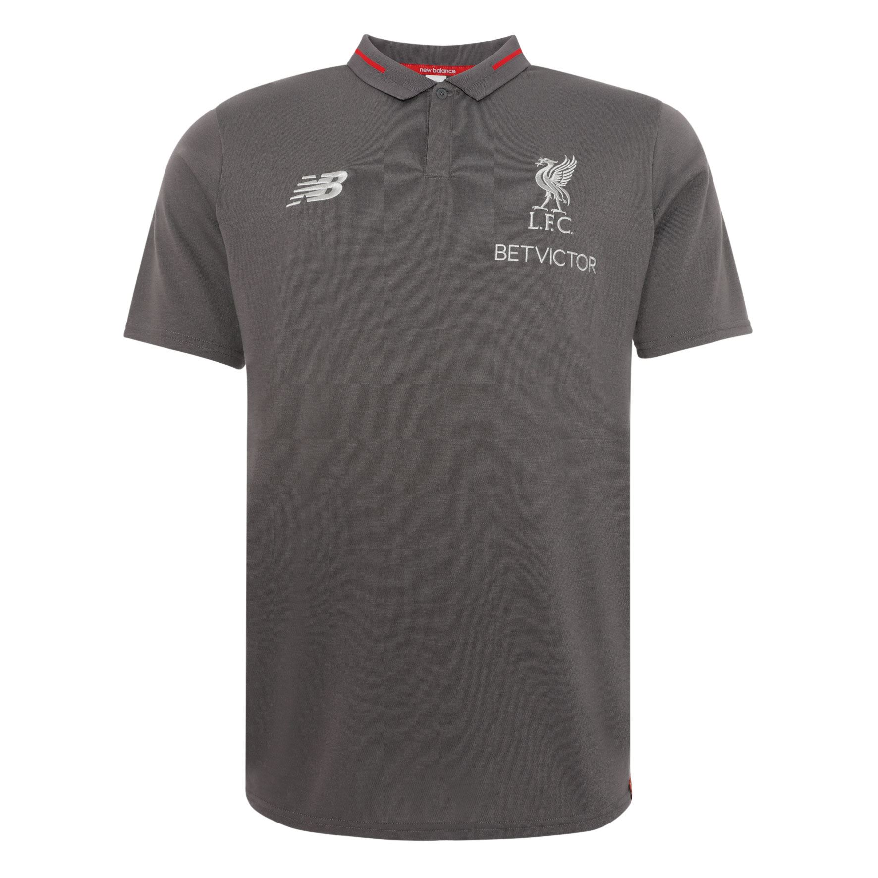 1940d22d1 Details about Liverpool FC Grey Mens Football Polo Shirt Leisure Essential  18/19 LFC Official