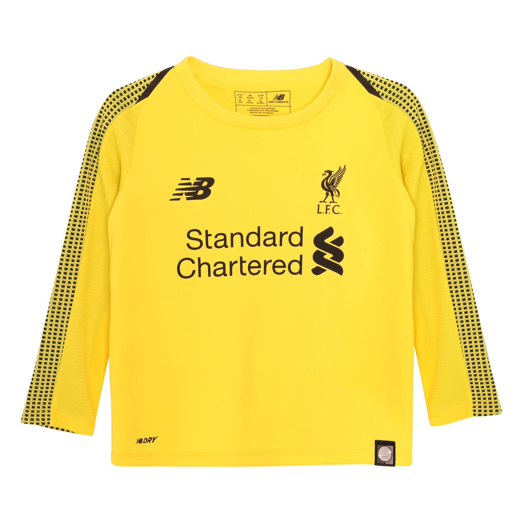 3f1a56ee096 Details about Liverpool FC Home Kit Yellow Baby Football Goalkeeper Kit 18/19  LFC Official