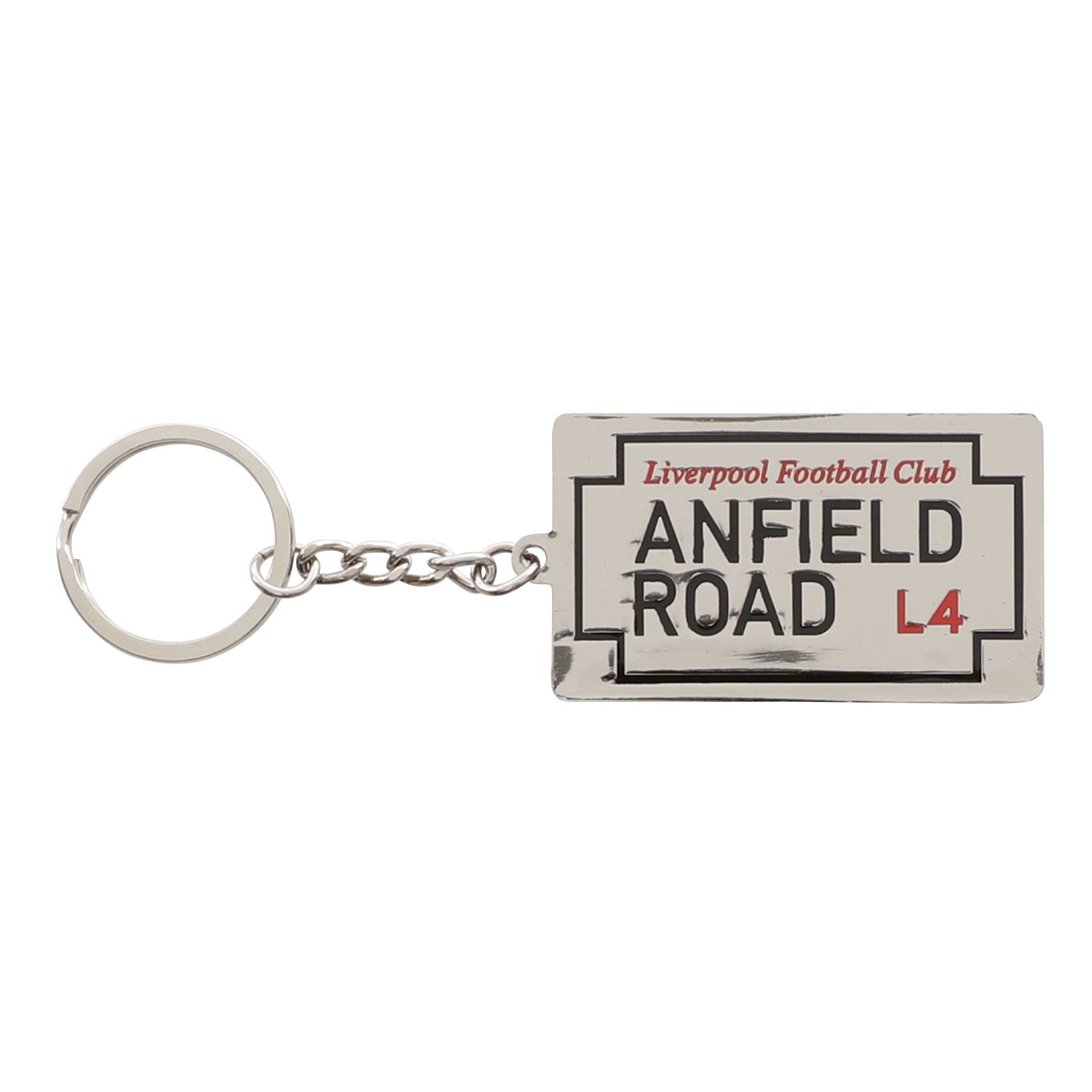 One Size Silver//Red Liverpool FC Official Metal Football Crest Keyring