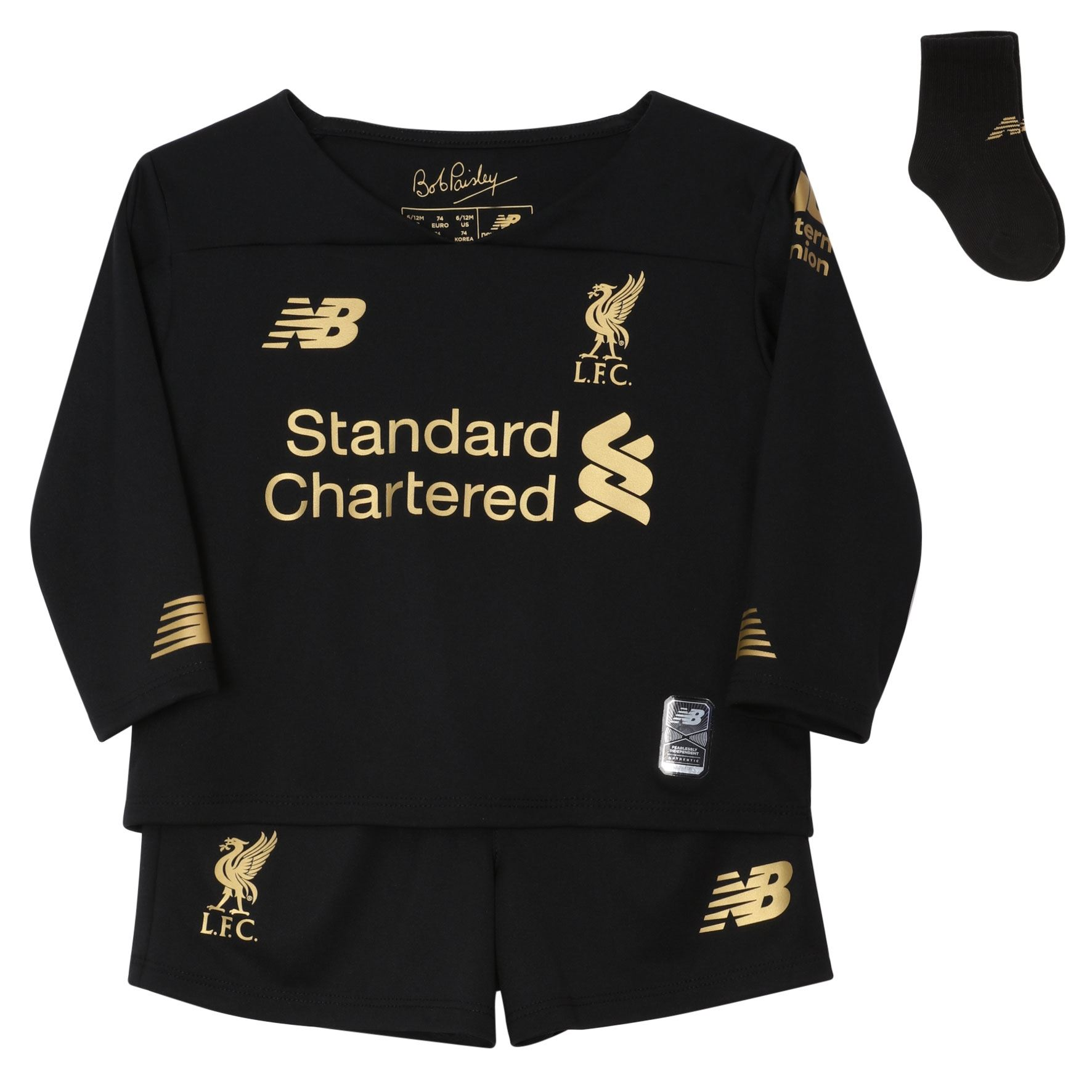 timeless design b1eee aeea3 Details about Liverpool FC Home Kit Black Baby Boys Goalkeeper Kit  2019/2020 LFC Official