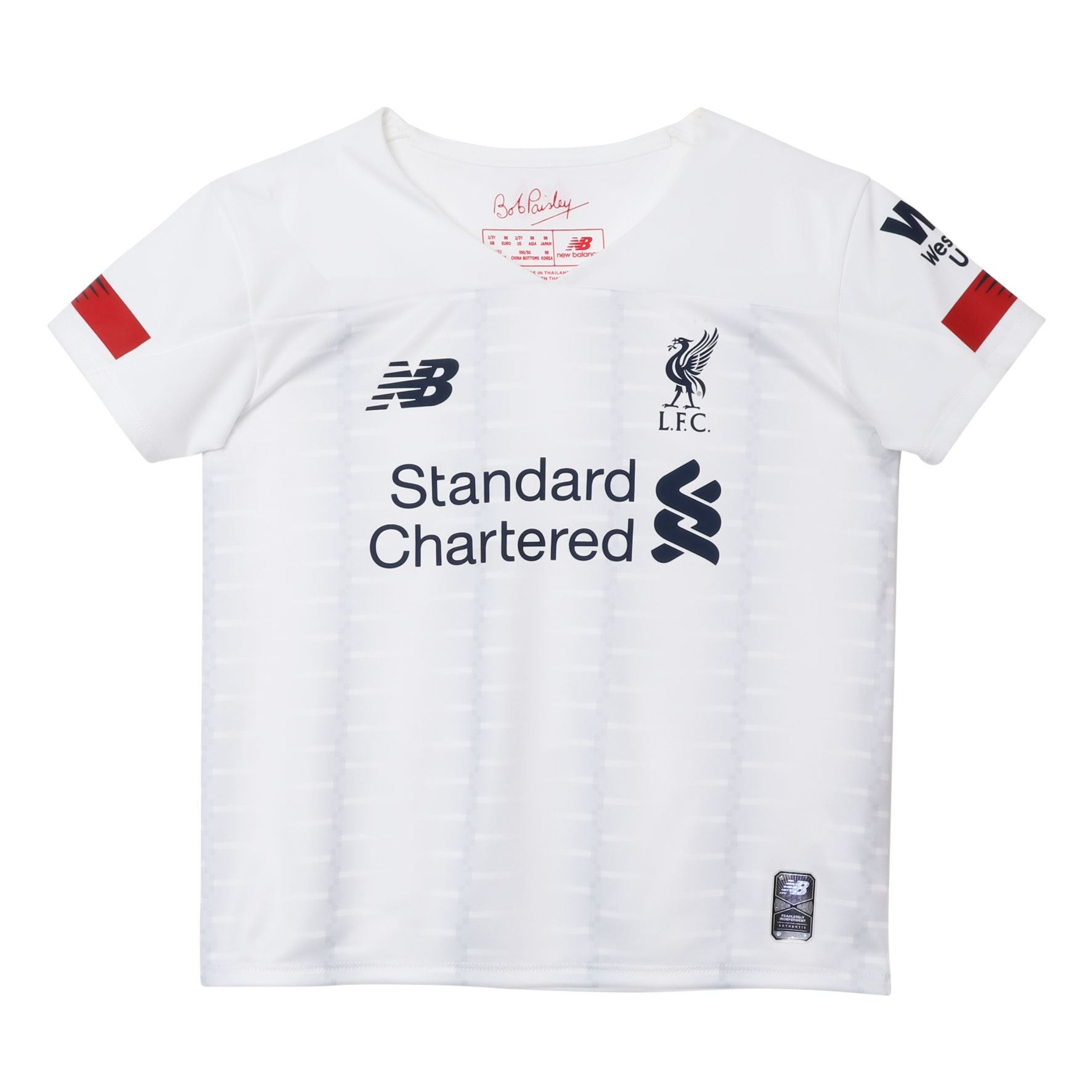 the best attitude b73ab 442be Details about Liverpool FC White Infants Soccer Away Kit 19/20 LFC Official