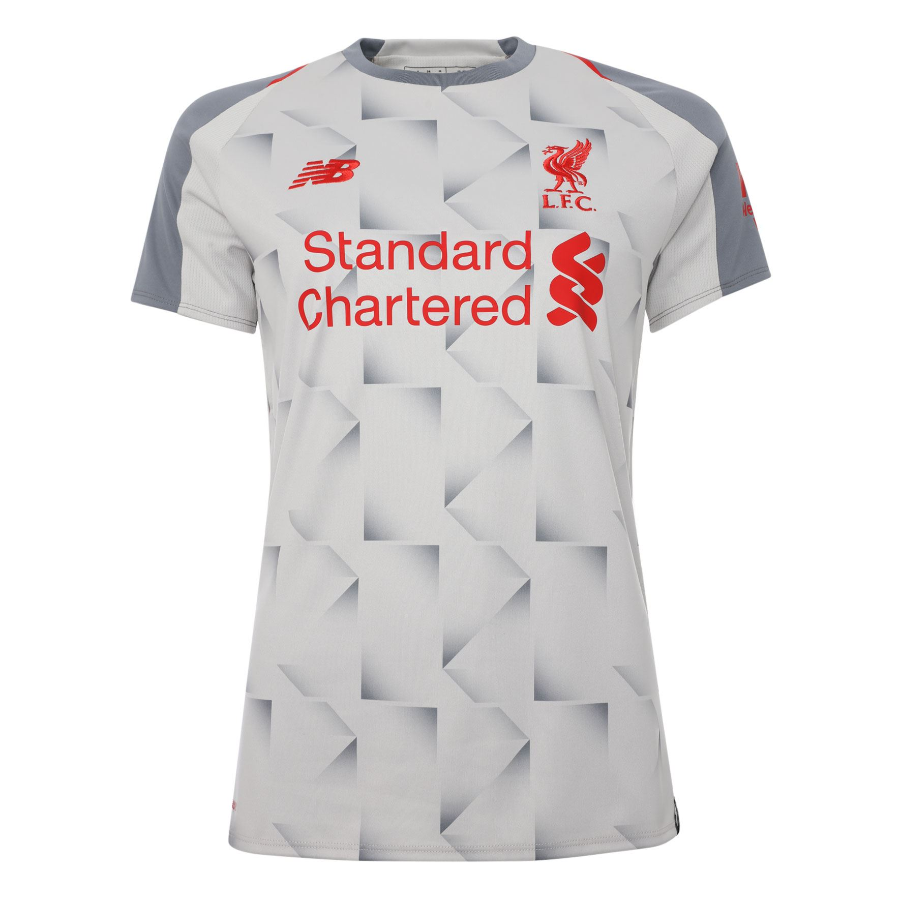 Details about Liverpool FC Short Sleeve Grey Womens Football Third Shirt  18 19 LFC Official c86d0b40f4