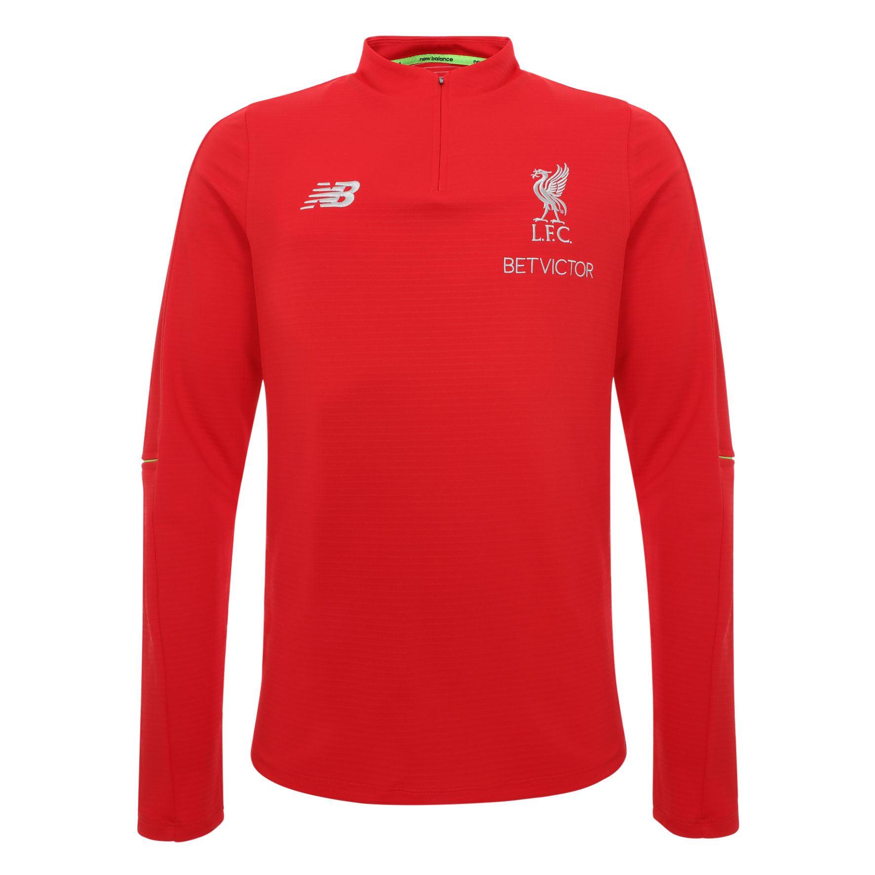 Liverpool FC Camiseta Entrenamiento Hombre Roja Manga Larga 18 19 LFC  Oficial e0375b8a7fb