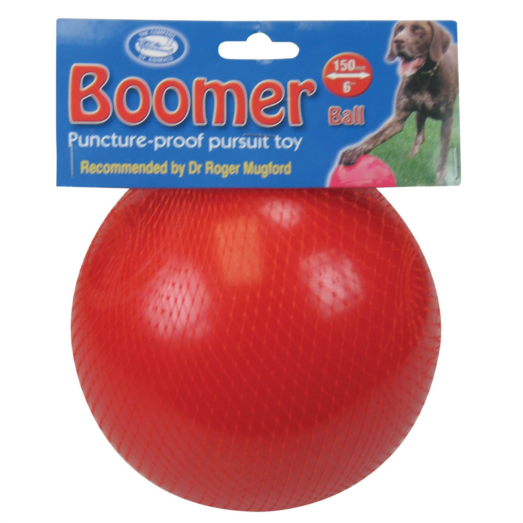 Red Ball Toy : Boomer ball indestructible solid dog toy inch