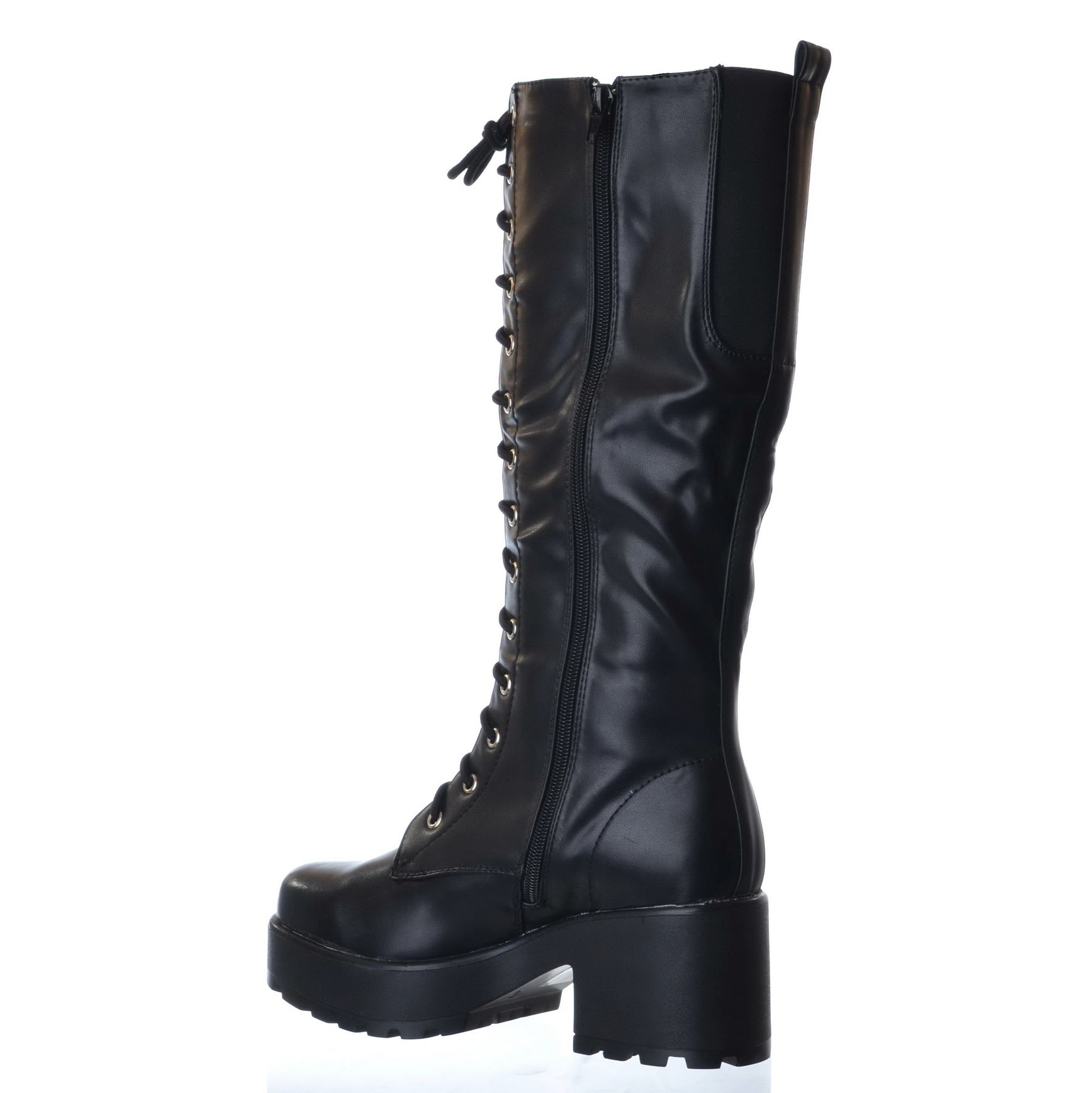 NEW-LADIES-WOMENS-KNEE-HIGH-CHUNKY-PLATFORM-MID-BLOCK-HEEL-LACE-UP-ZIP-UP-BOOTS thumbnail 4
