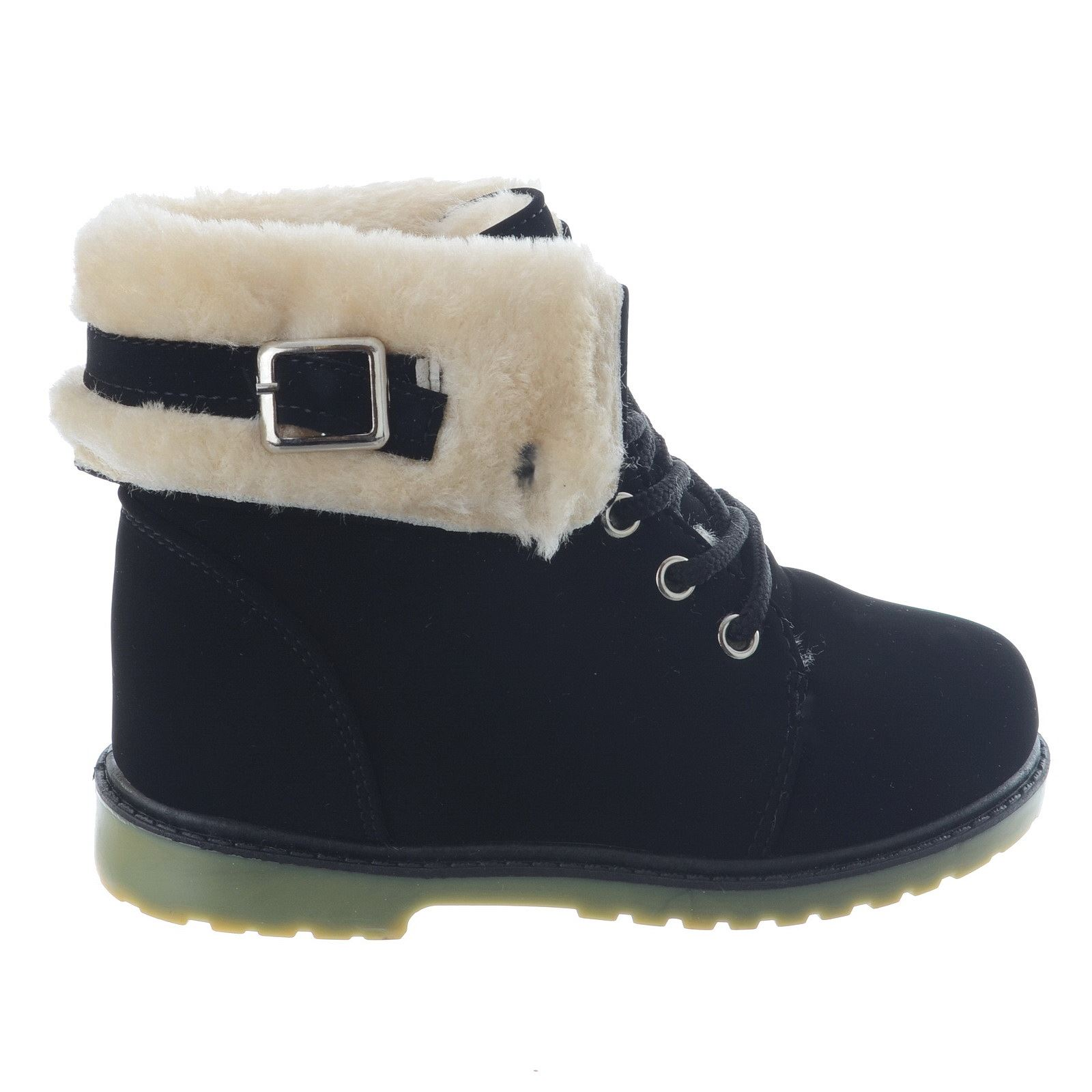 GIRLS KIDS BOYS INFANTS COMFY GRIP SOLE WARM WINTER SNOW ANKLE BOOTS SHOES SIZE