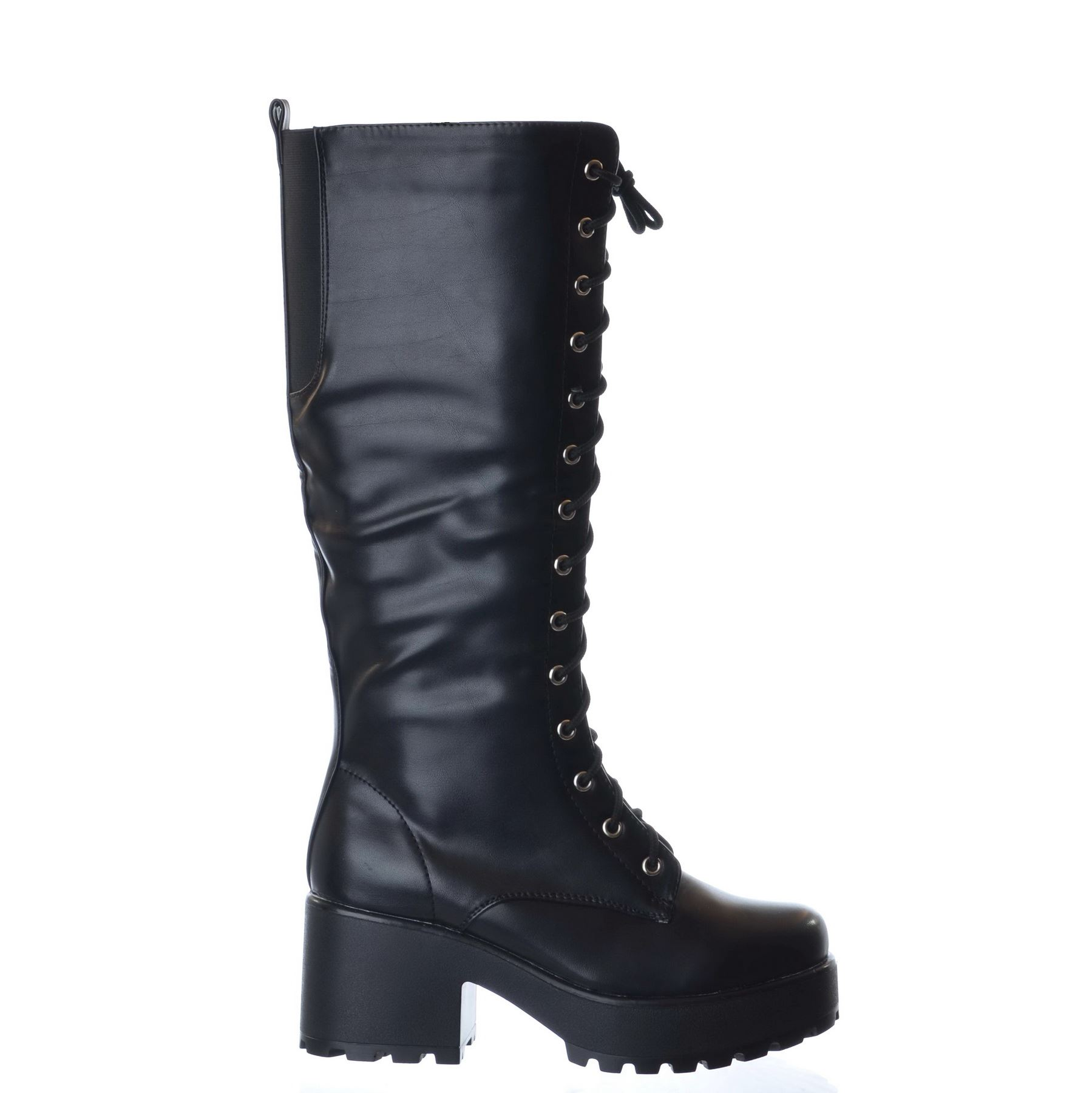 NEW-LADIES-WOMENS-KNEE-HIGH-CHUNKY-PLATFORM-MID-BLOCK-HEEL-LACE-UP-ZIP-UP-BOOTS thumbnail 3