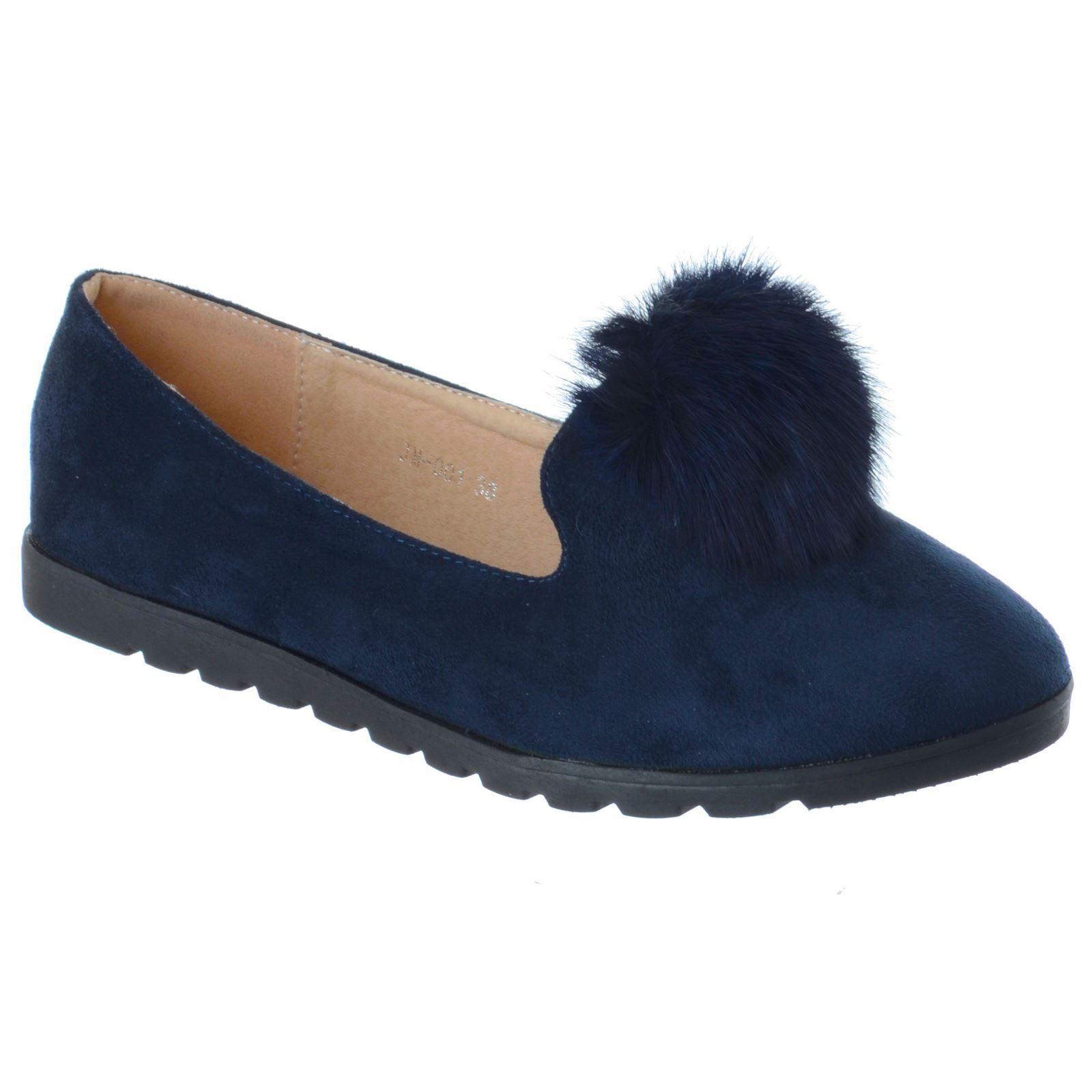 Fur Pom Girls Ballet Shoe
