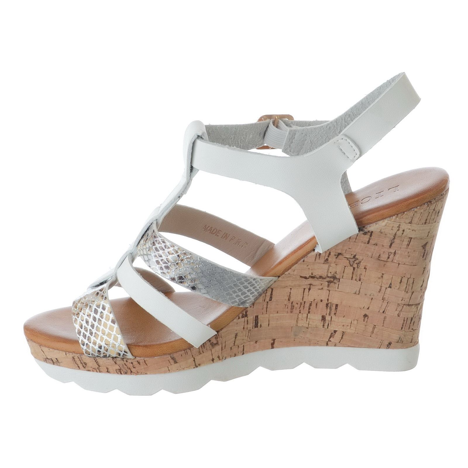 WOMENS-LADIES-STRAPPY-HIGH-CORK-WEDGE-HEEL-ANKLE-STRAP-BUCKLE-SANDALS-SHOES-SIZE