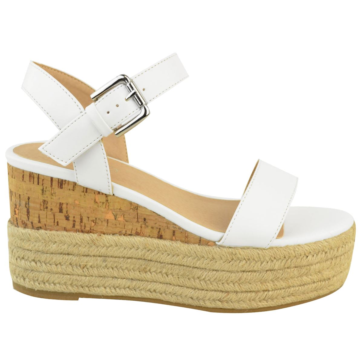 Womens-Ladies-Summer-Platform-Ankle-Strappy-Wedges-Open-Toe-Sandals-Shoes-Size thumbnail 9