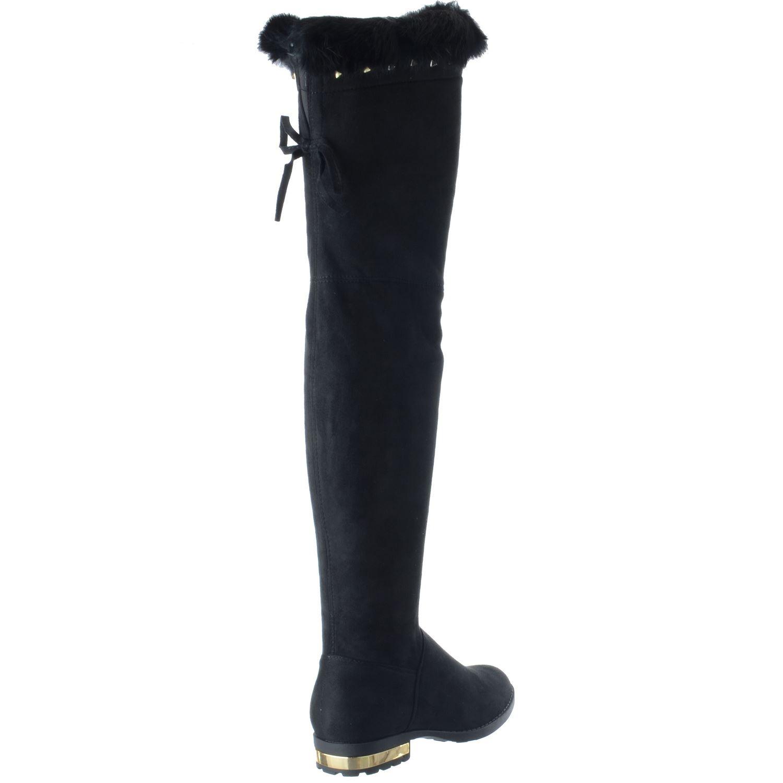 Pelle scamosciata pelle Tacco in collo Dimensione con nera oro alla finta donna sul scamosciata basso caviglia per cinturino cerniera FrWwqxZFSH