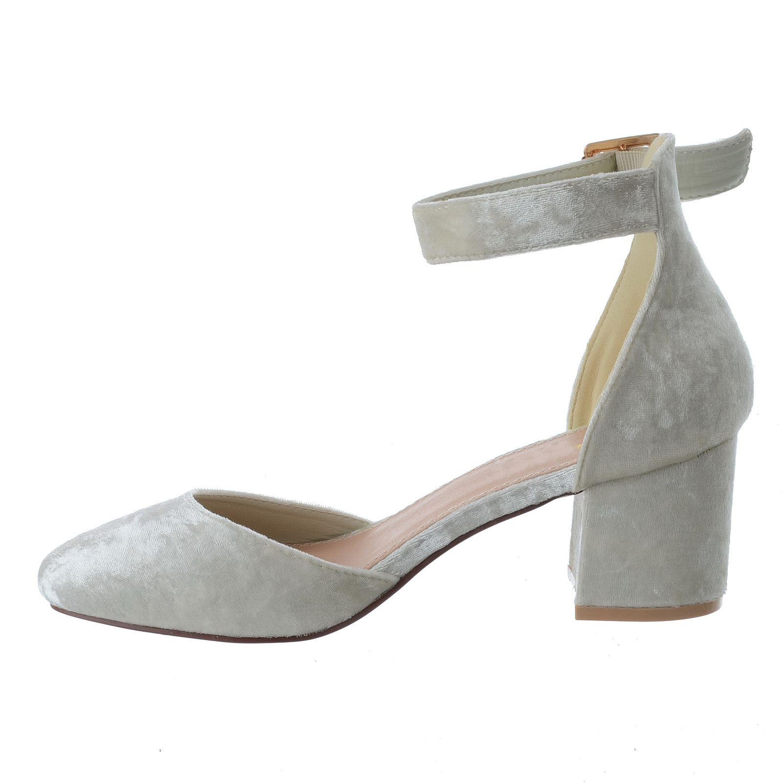 Grey Mid Heel Court Shoes Uk