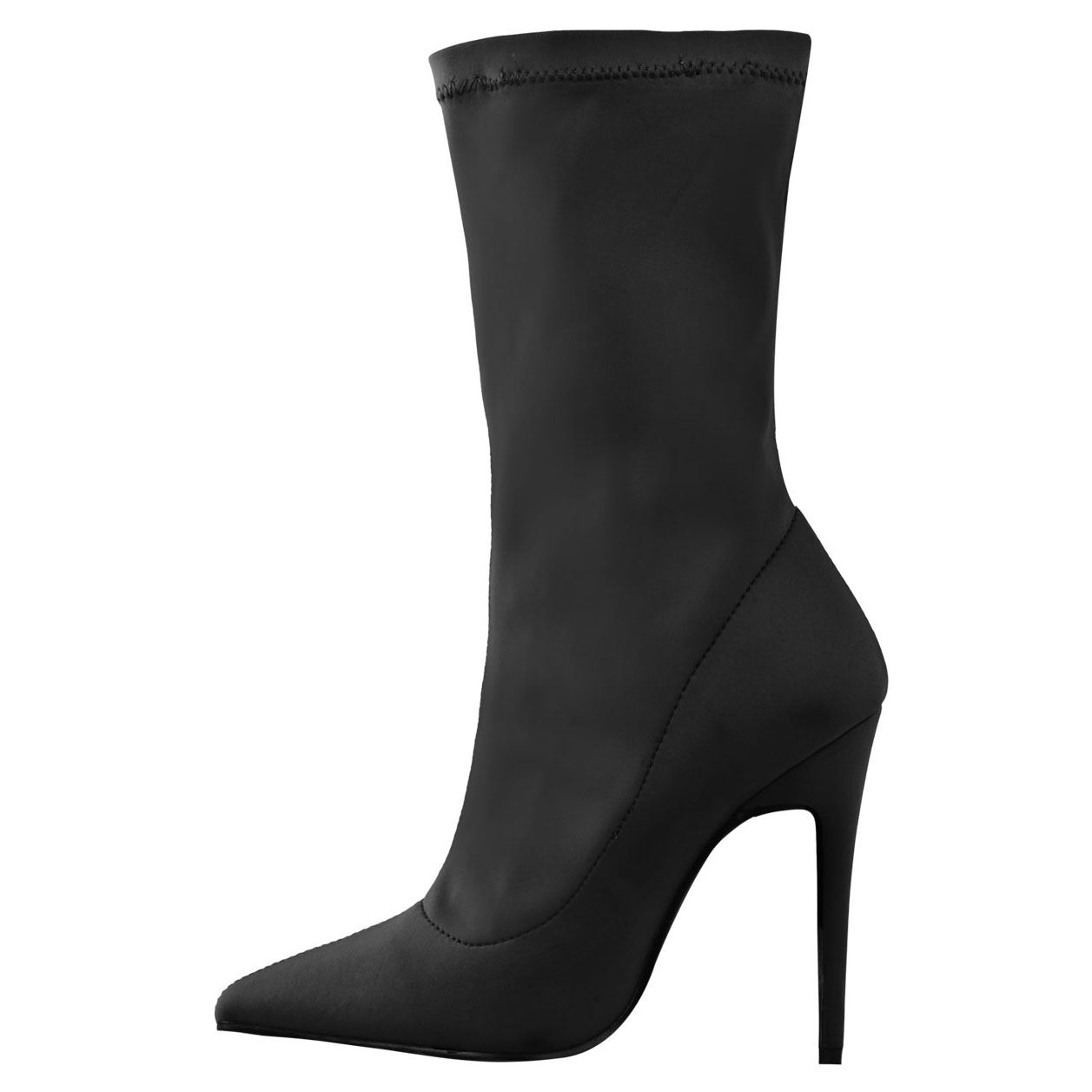 NEW-WOMENS-LADIES-POINTY-TOE-HIGH-STILETTO-HEEL-STRETCHY-LYCRA-ANKLE-BOOTS-SHOES