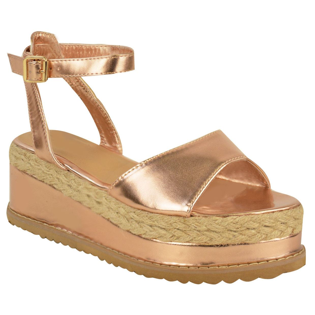 Womens-Ladies-Flat-Low-Wedge-Espadrille-Sandals-Lace-Platform-Summer-Shoes-Size