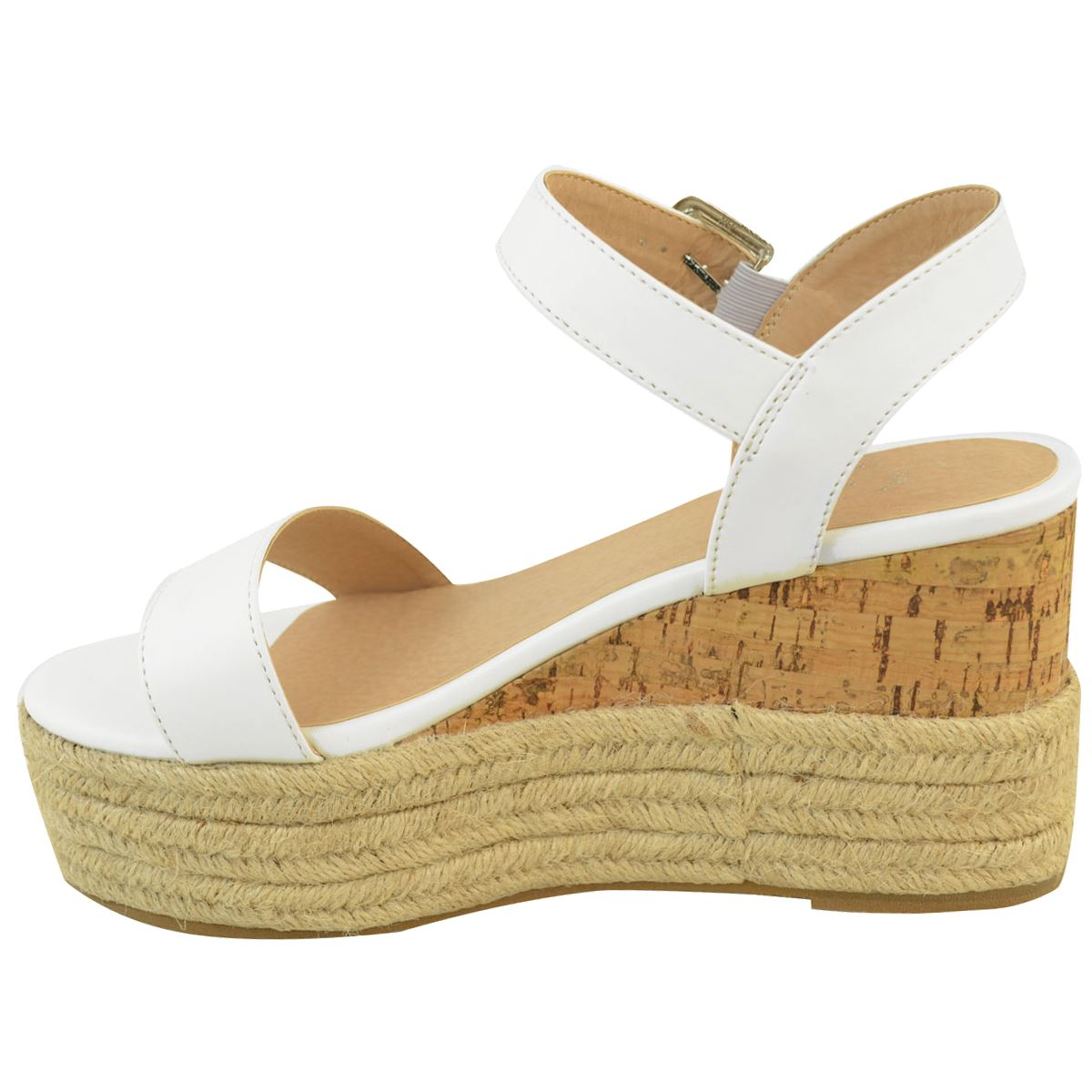 Womens-Ladies-Summer-Platform-Ankle-Strappy-Wedges-Open-Toe-Sandals-Shoes-Size thumbnail 10