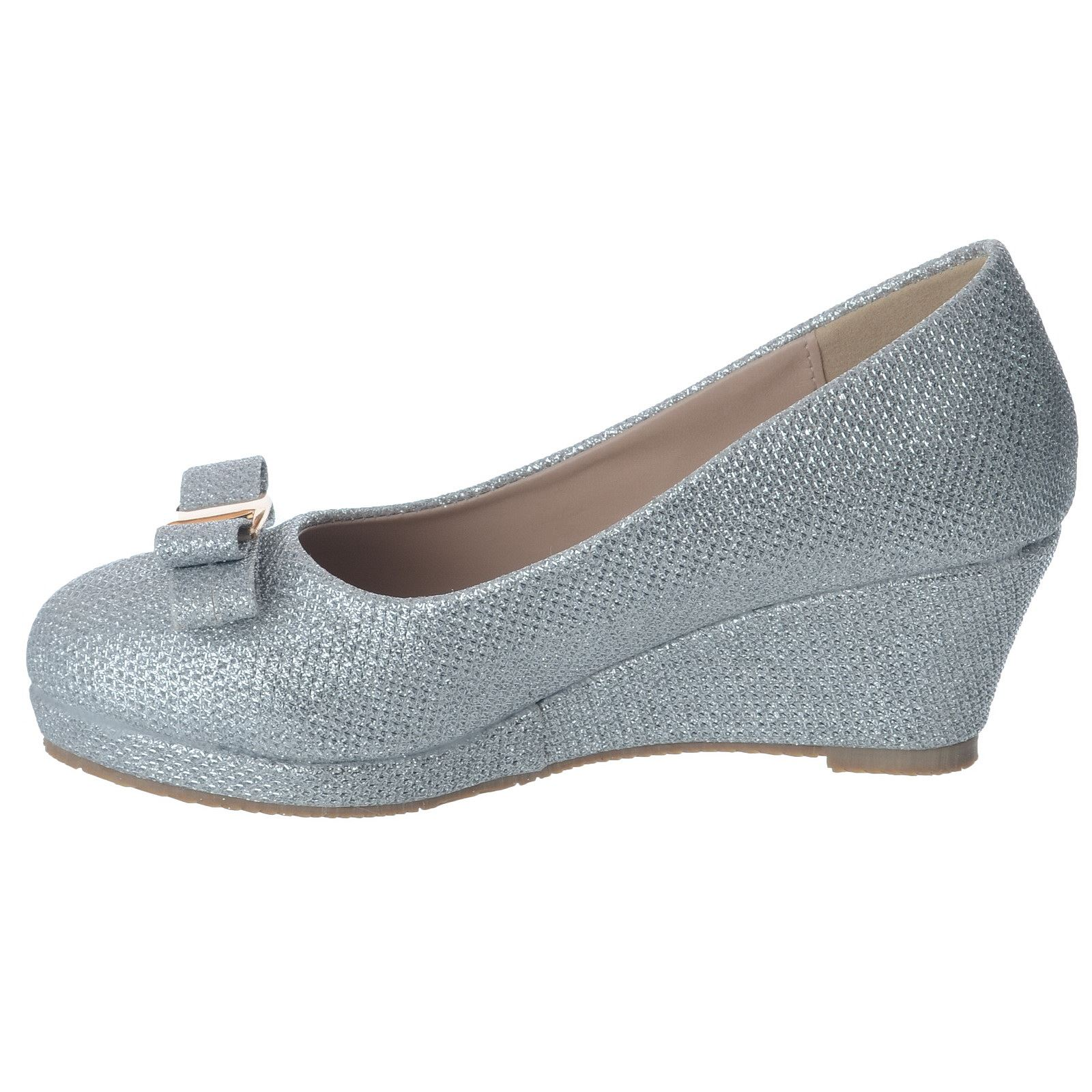 Details about GIRLS KIDS LOW MID HEEL PLATFORM WEDGES SLIP ON PARTY COURT SHOES SANDALS SIZE