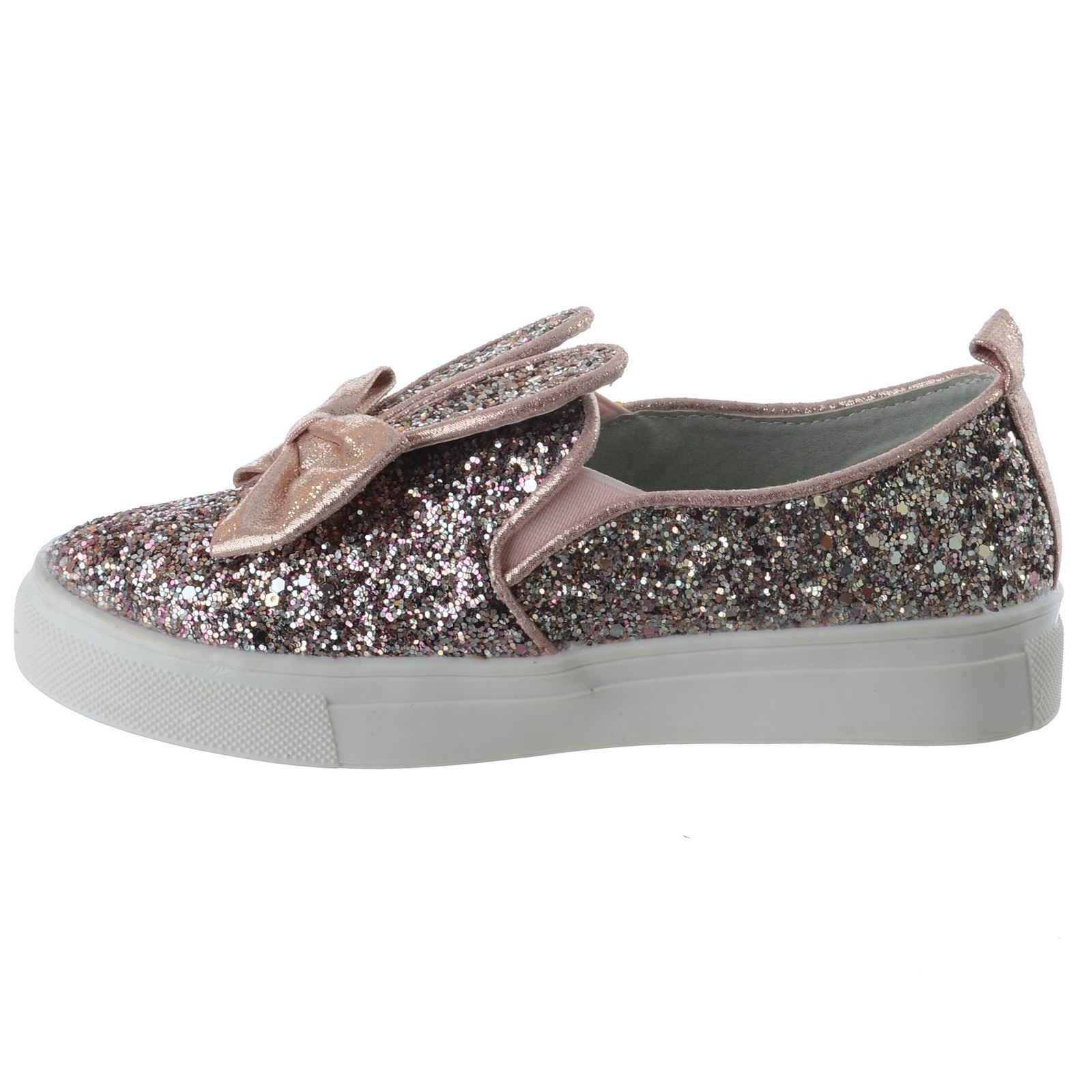 GIRLS KIDS GLITTER SKATER PUMPS PLIMSOLLS TRAINERS CHILDRENS PARTY SHOES SIZE