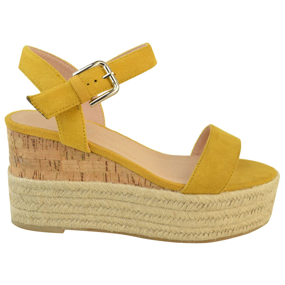 Womens-Ladies-Summer-Platform-Ankle-Strappy-Wedges-Open-Toe-Sandals-Shoes-Size thumbnail 6